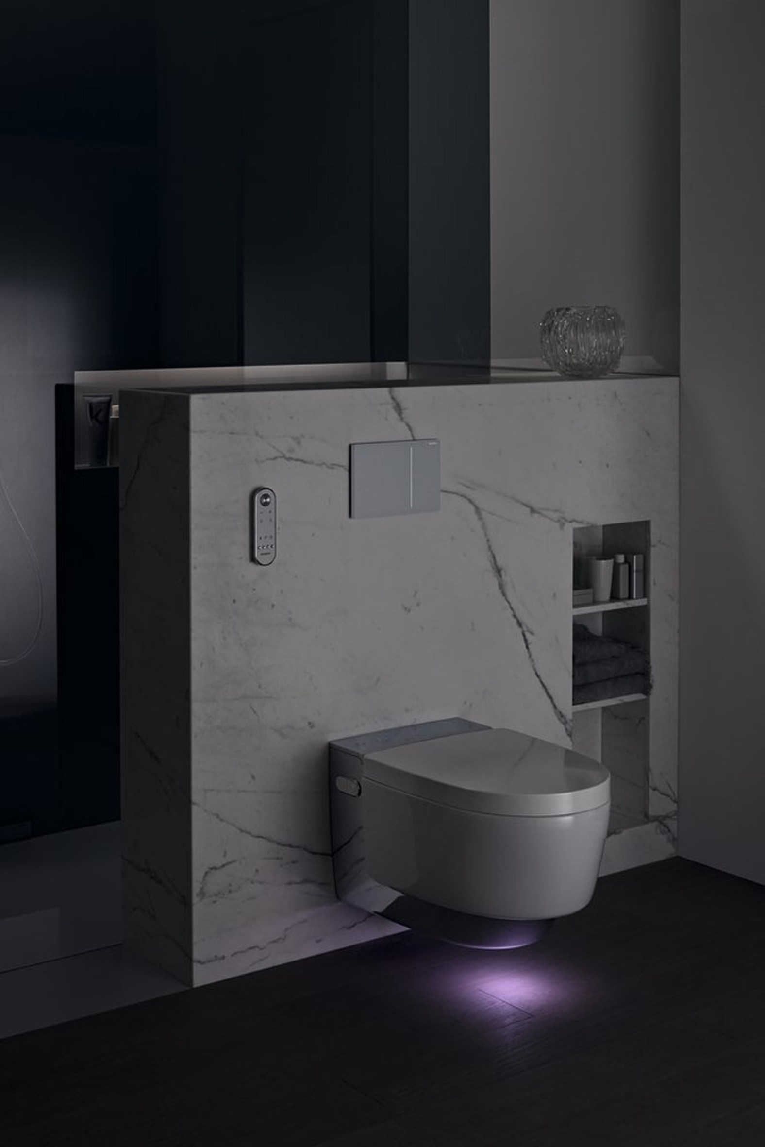 wall hung toilet with bidet aquaclean mera by geberit italia. Black Bedroom Furniture Sets. Home Design Ideas