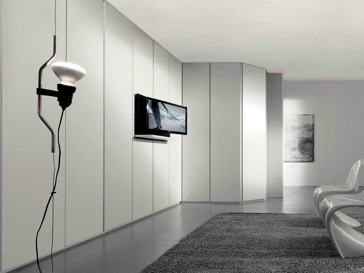 Armadio componibile con TV integrata ARCHITETTURE A PARETE by Fimar