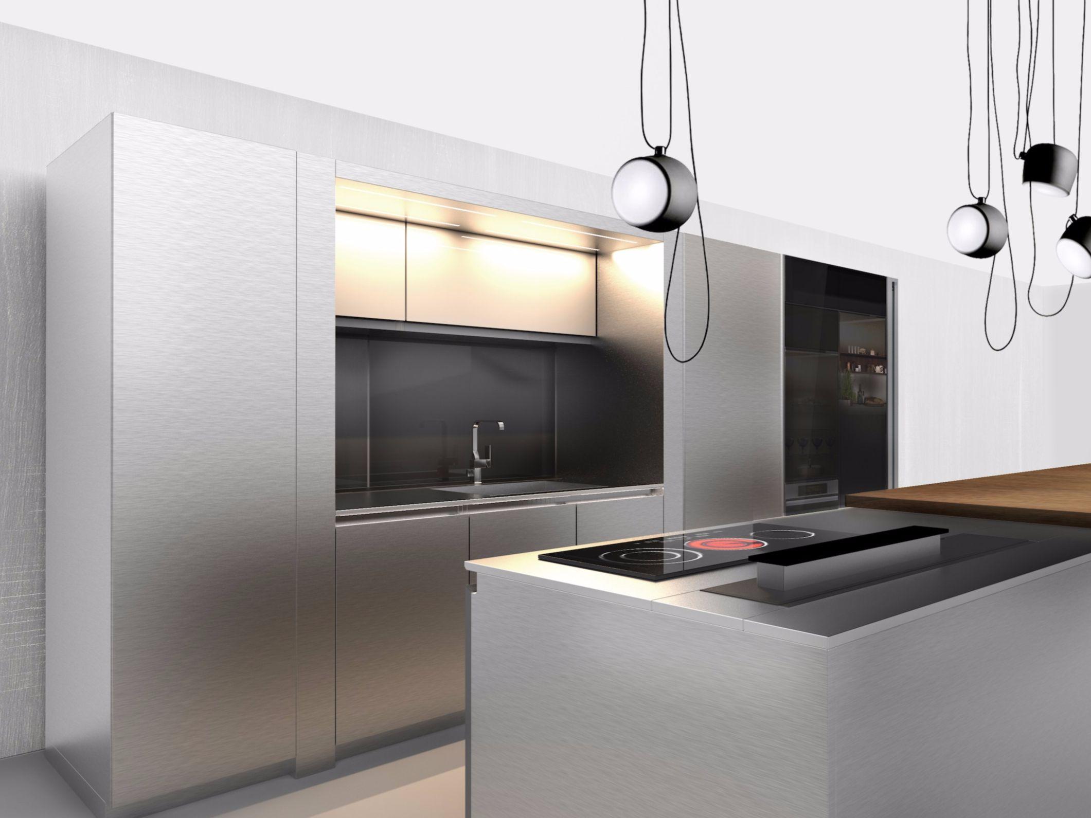 arte | cucina con isola collezione arte by euromobil design marco piva - Cucina Euromobil