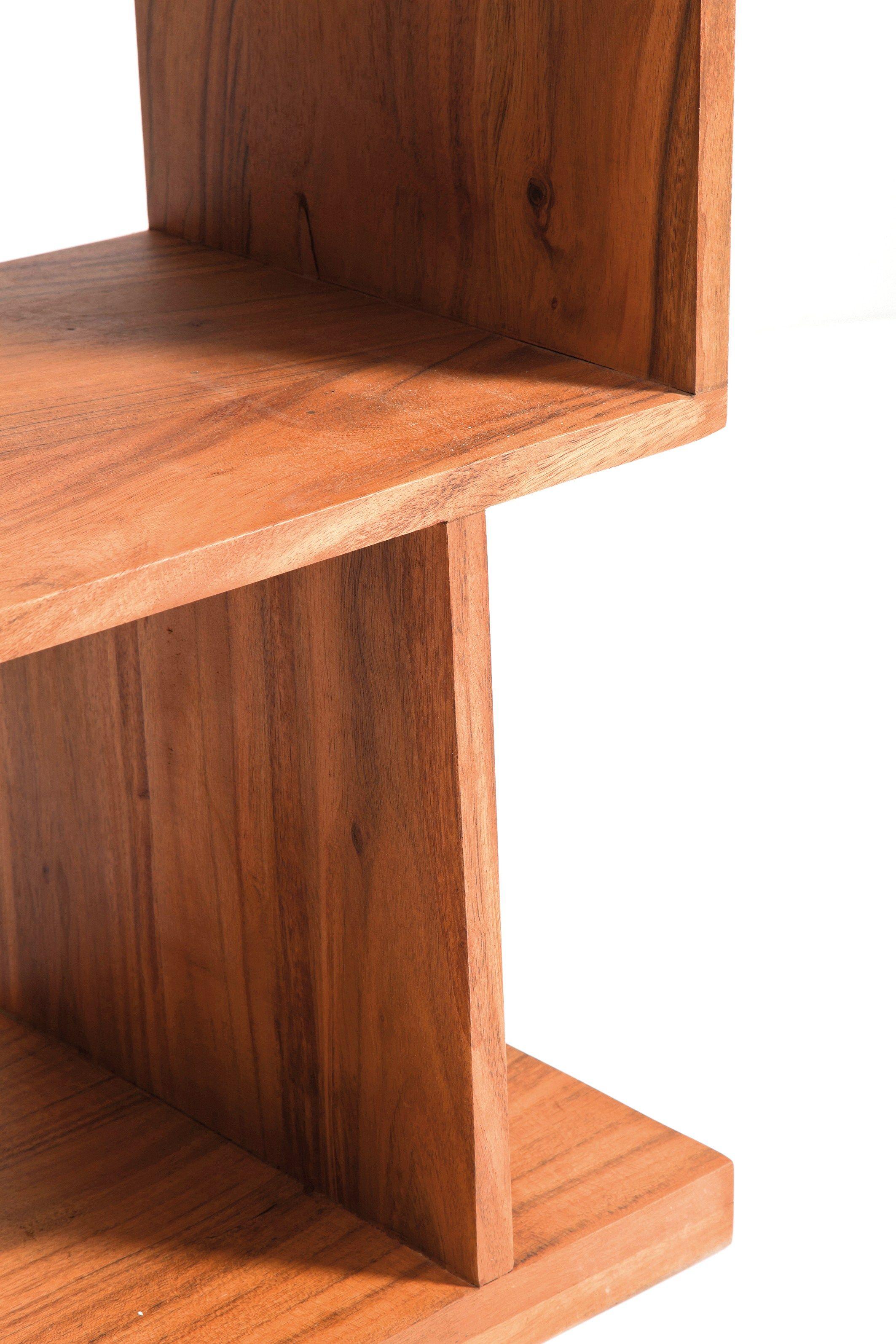 Libreria a giorno in legno authentico zick zack 120 by for Mobili kare design