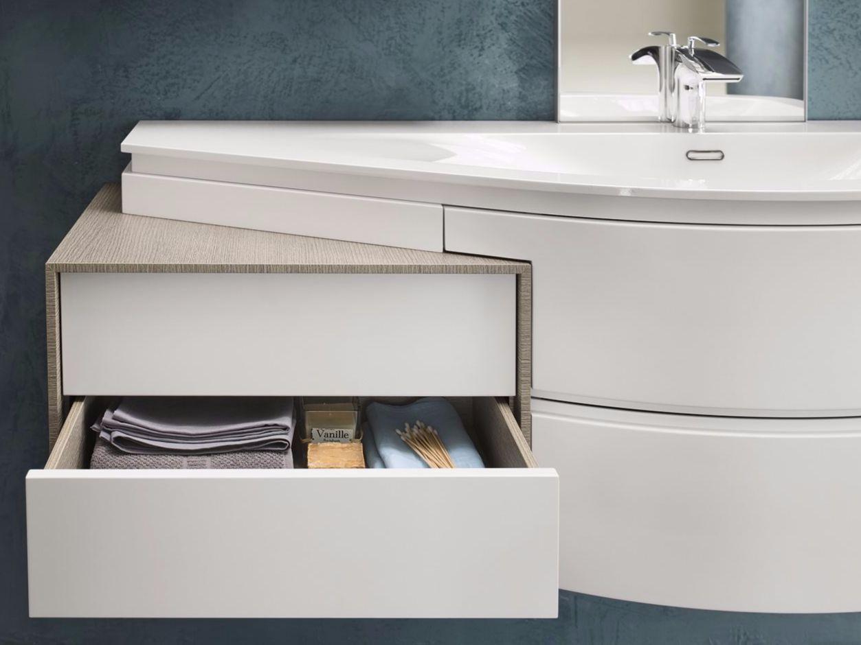 Meuble pour salle de bain composable avantgarde for Produit pour salle de bain