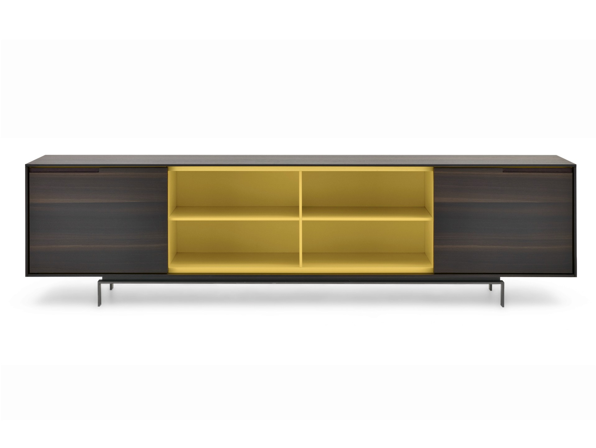 Wooden Sideboard With Doors AXIA By Poliform Design Paolo Piva