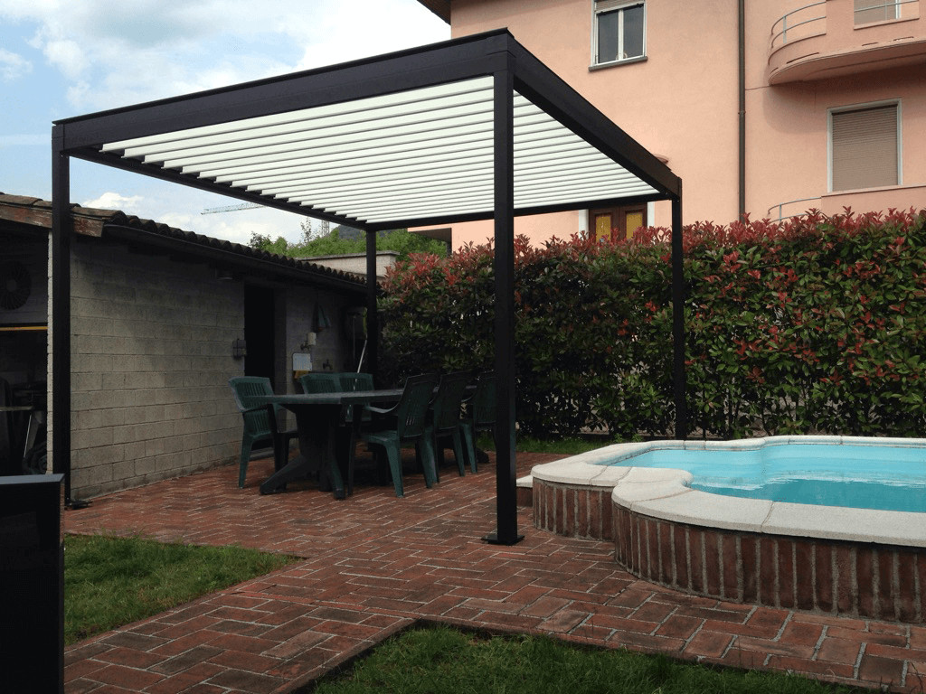 aluminium pergola with adjustable louvers azore by frubau. Black Bedroom Furniture Sets. Home Design Ideas