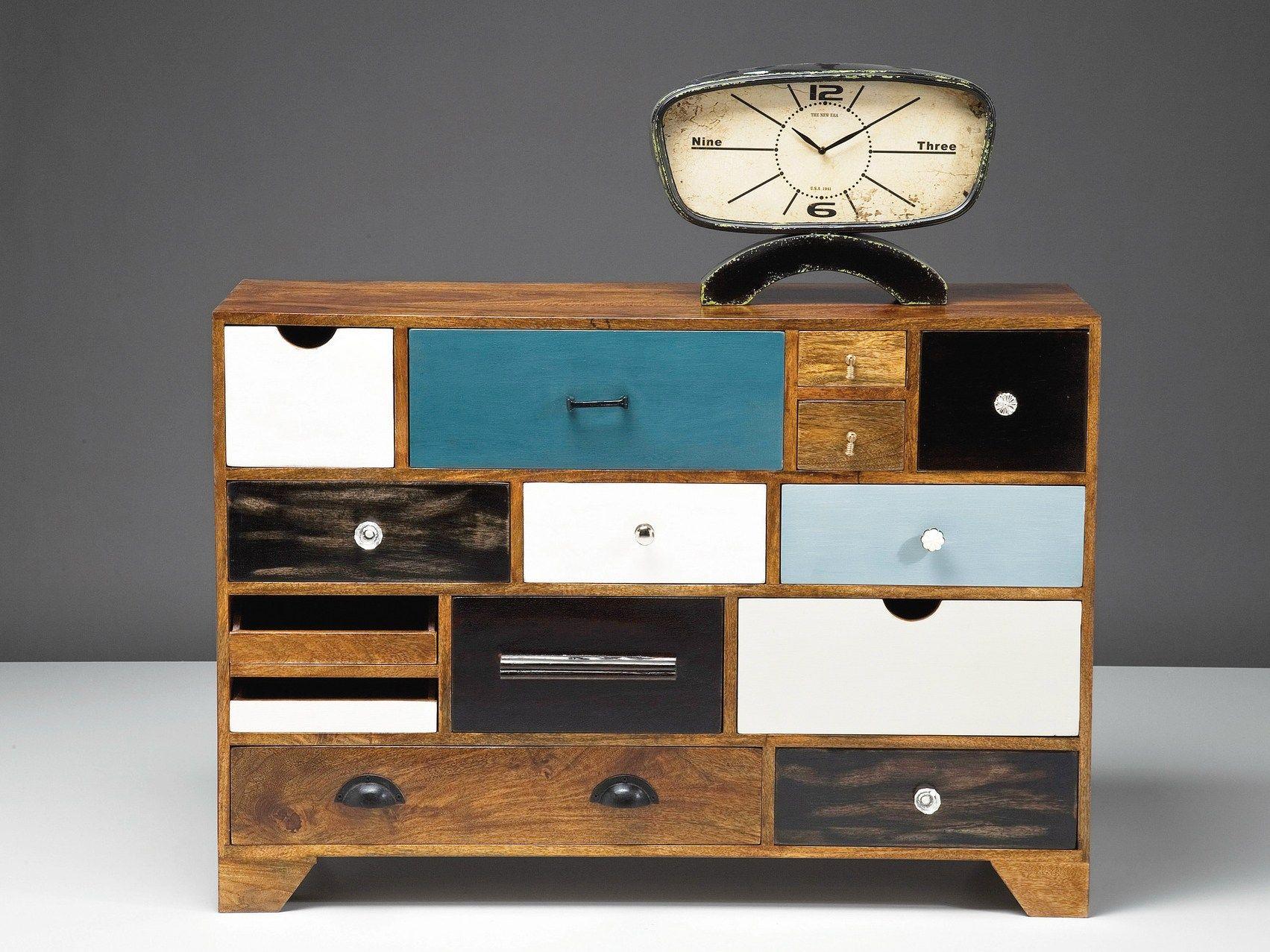 Cassettiera a terra laccata in legno babalou 14 by kare design for Mobili kare design