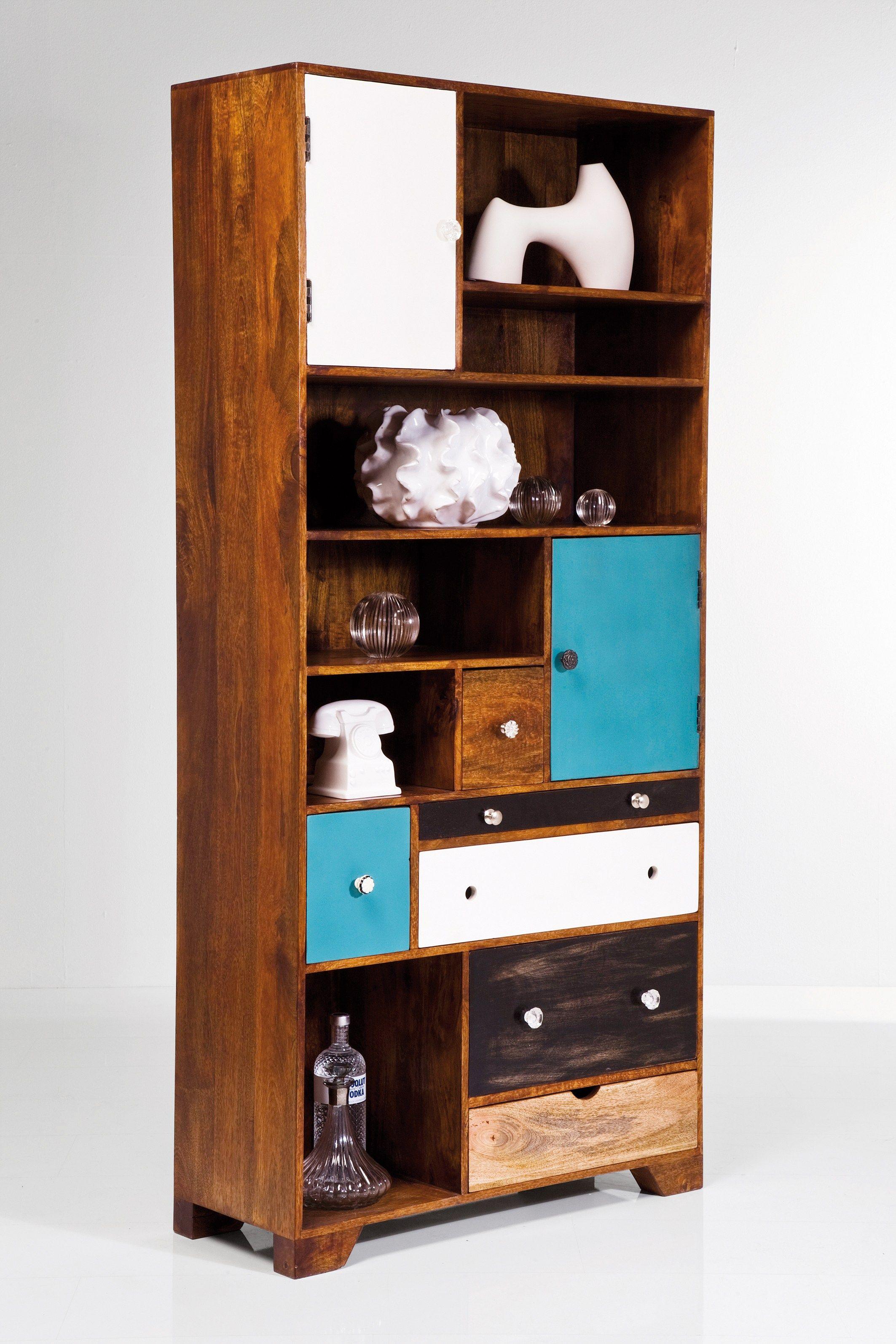 Libreria a giorno in legno con cassetti babalou libreria for Mobili kare design
