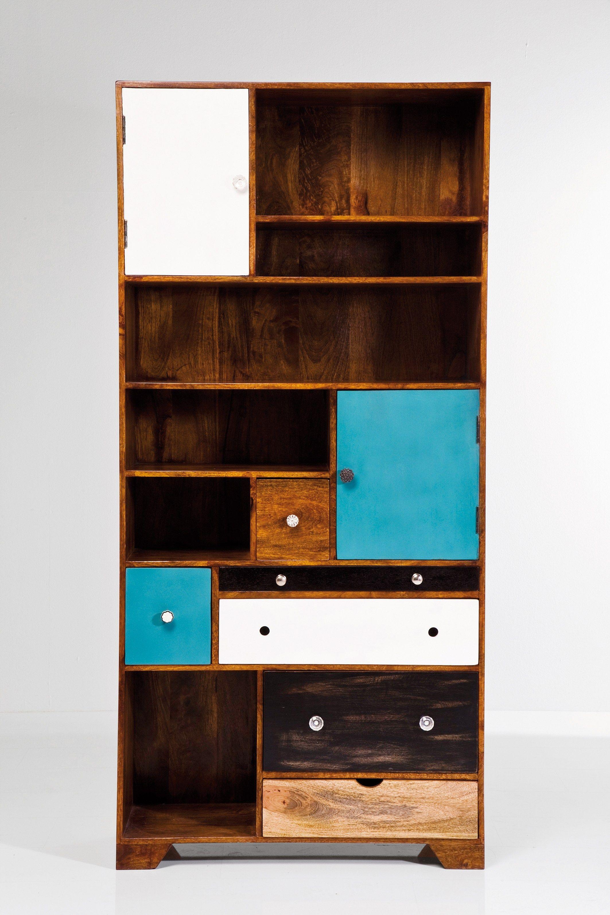 Libreria a giorno in legno con cassetti babalou eu by kare for Mobili kare design