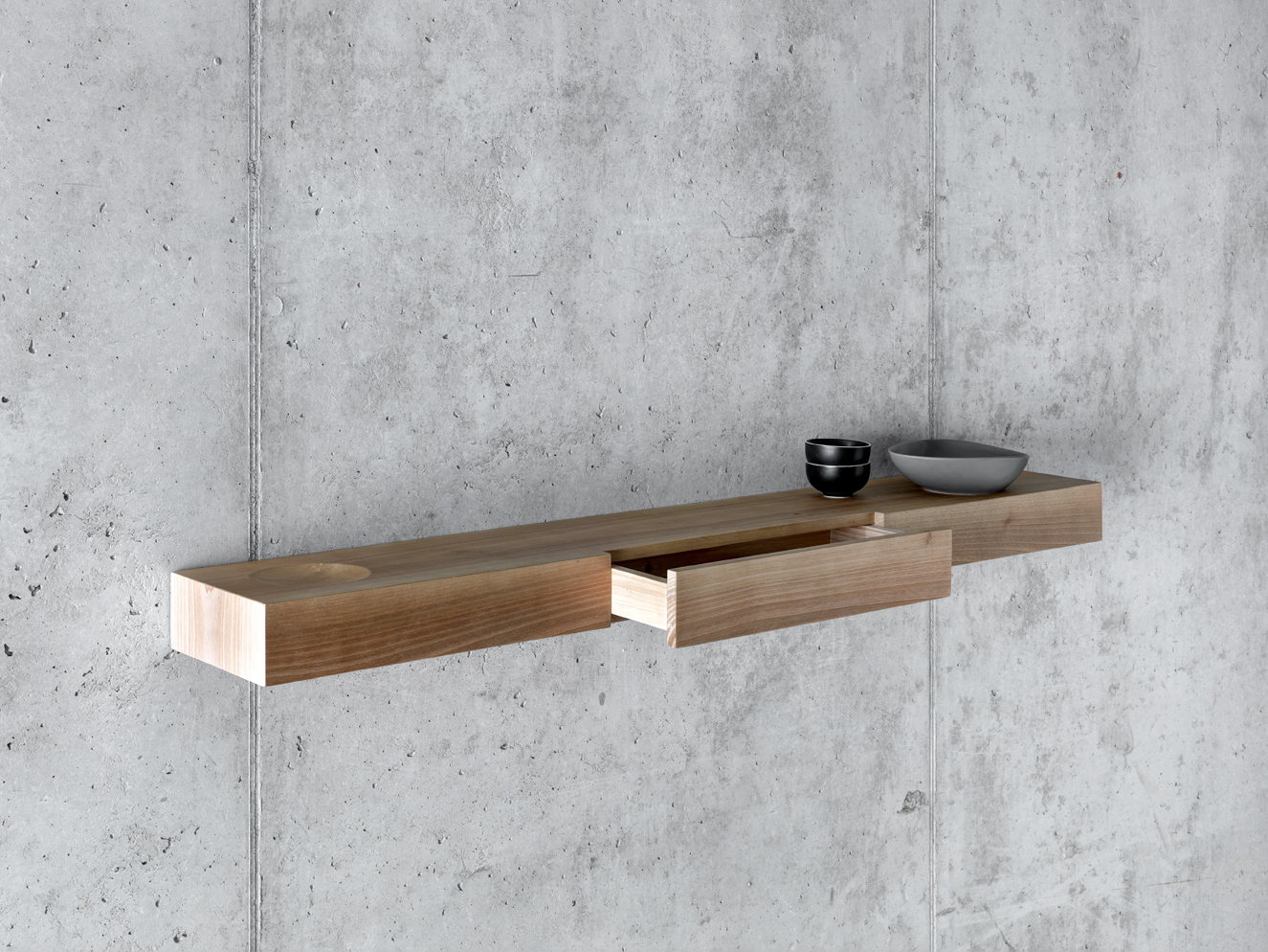 walnut wall shelf b u00c0uti by fioroni design pasquini tranfa walnut wall mounted shelves walnut wall shelves floating