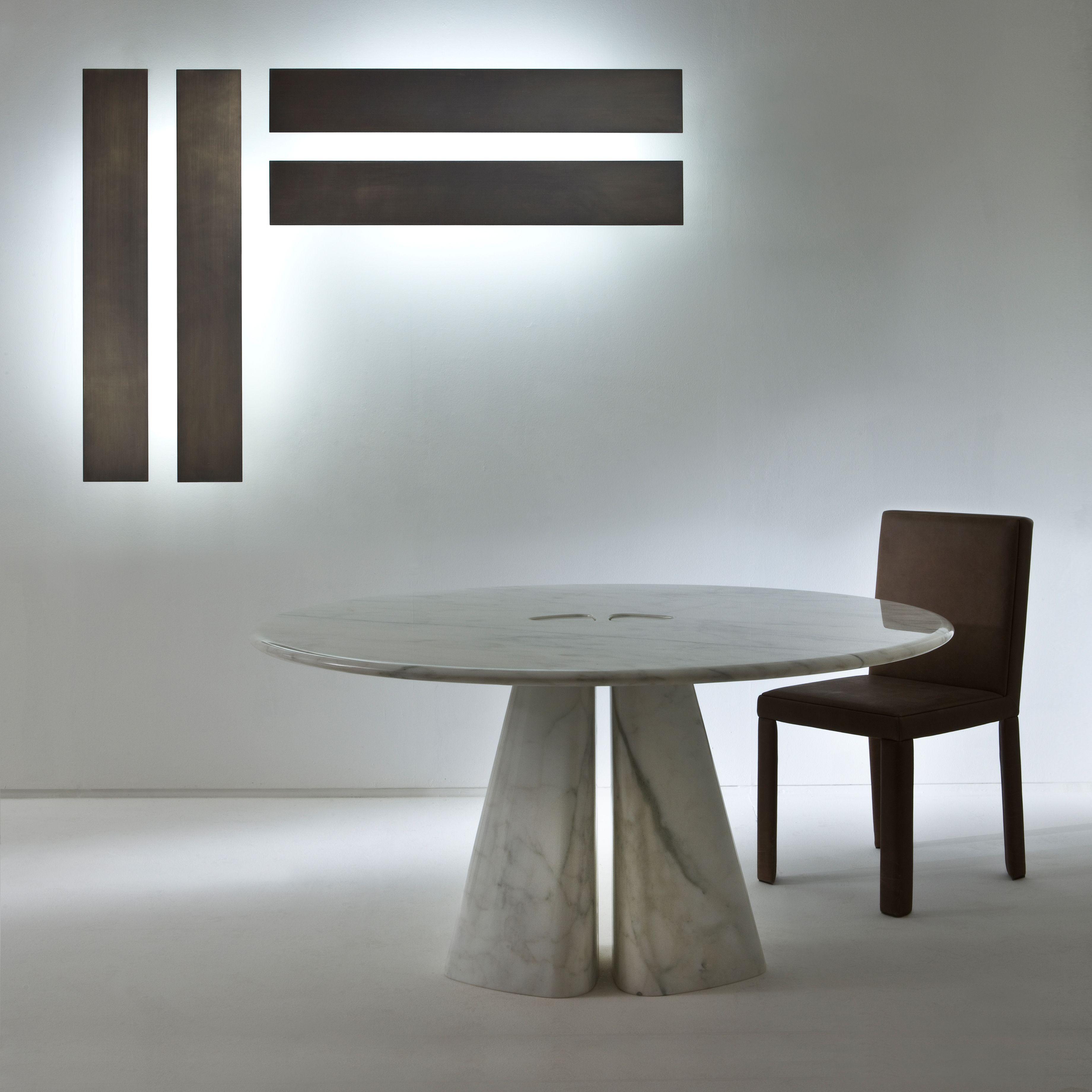 Tavolo rotondo in marmo raja bd44 r collezione maxima by - Tavolo marmo design ...