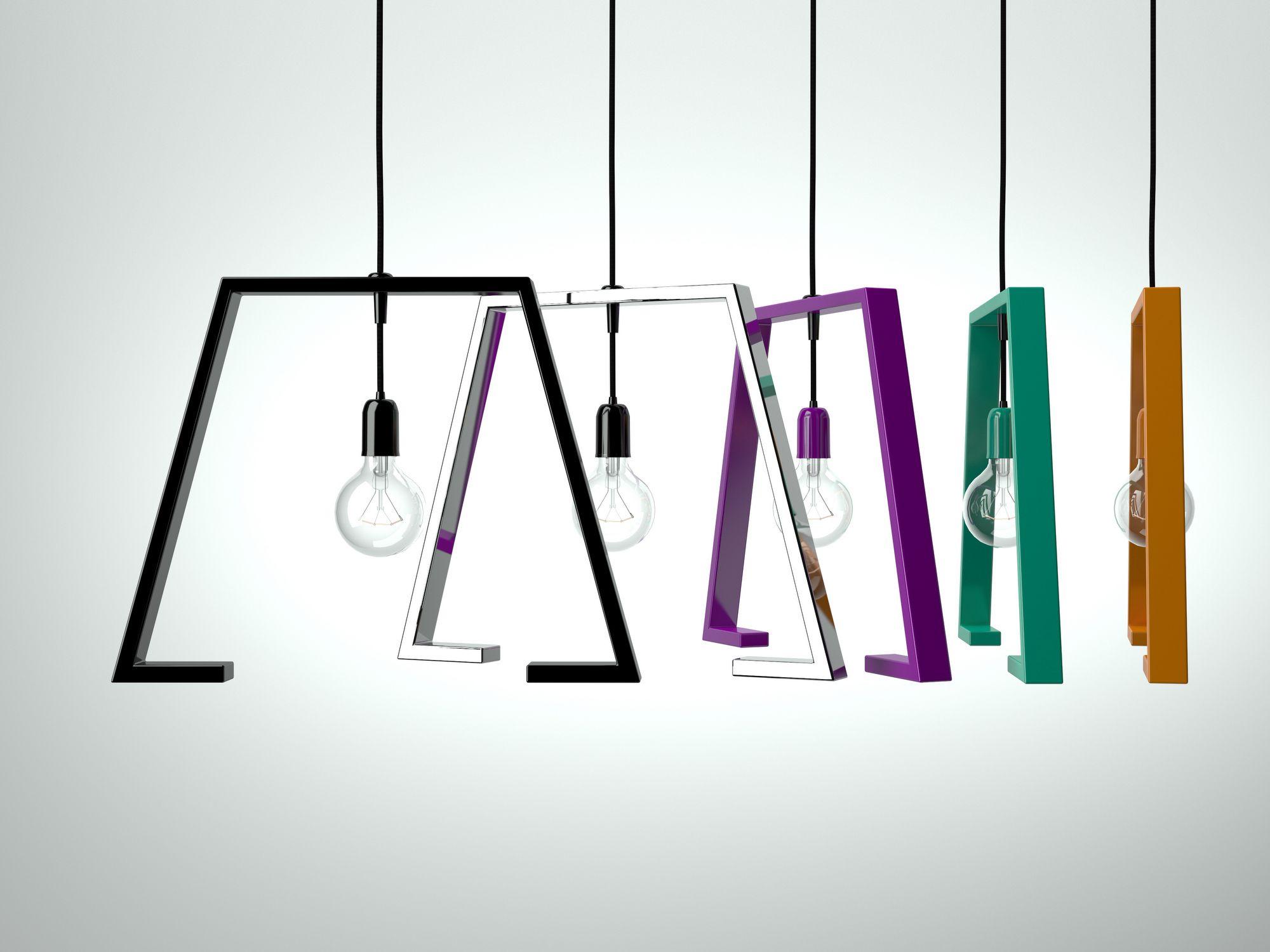 Lampade designer : Lampada a sospensione in metallo verniciato berliner 1 collezione ...