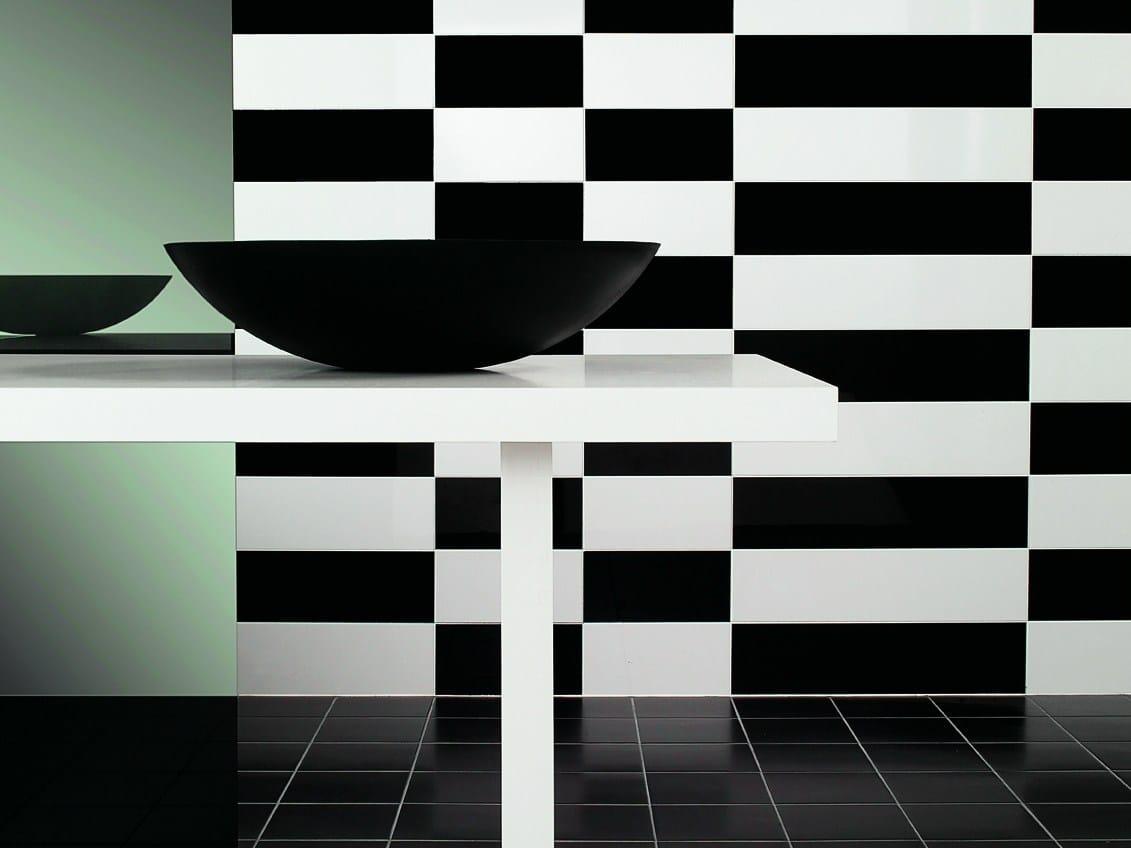 Wand  und bodenbelag aus feinsteinzeug für innen bianco nero by ...