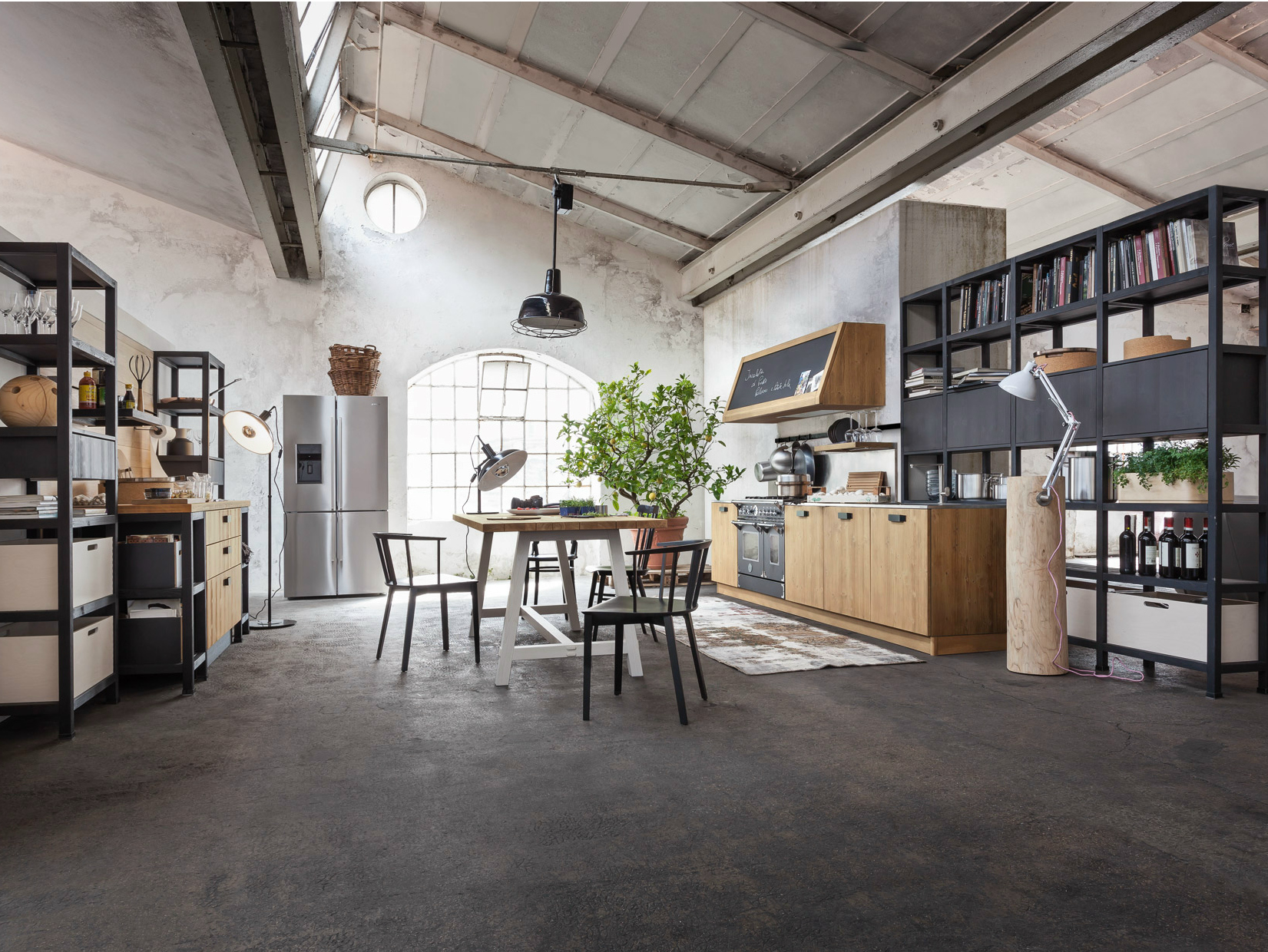 Wooden kitchen bilbao fly collection by callesella for Arredamenti loft