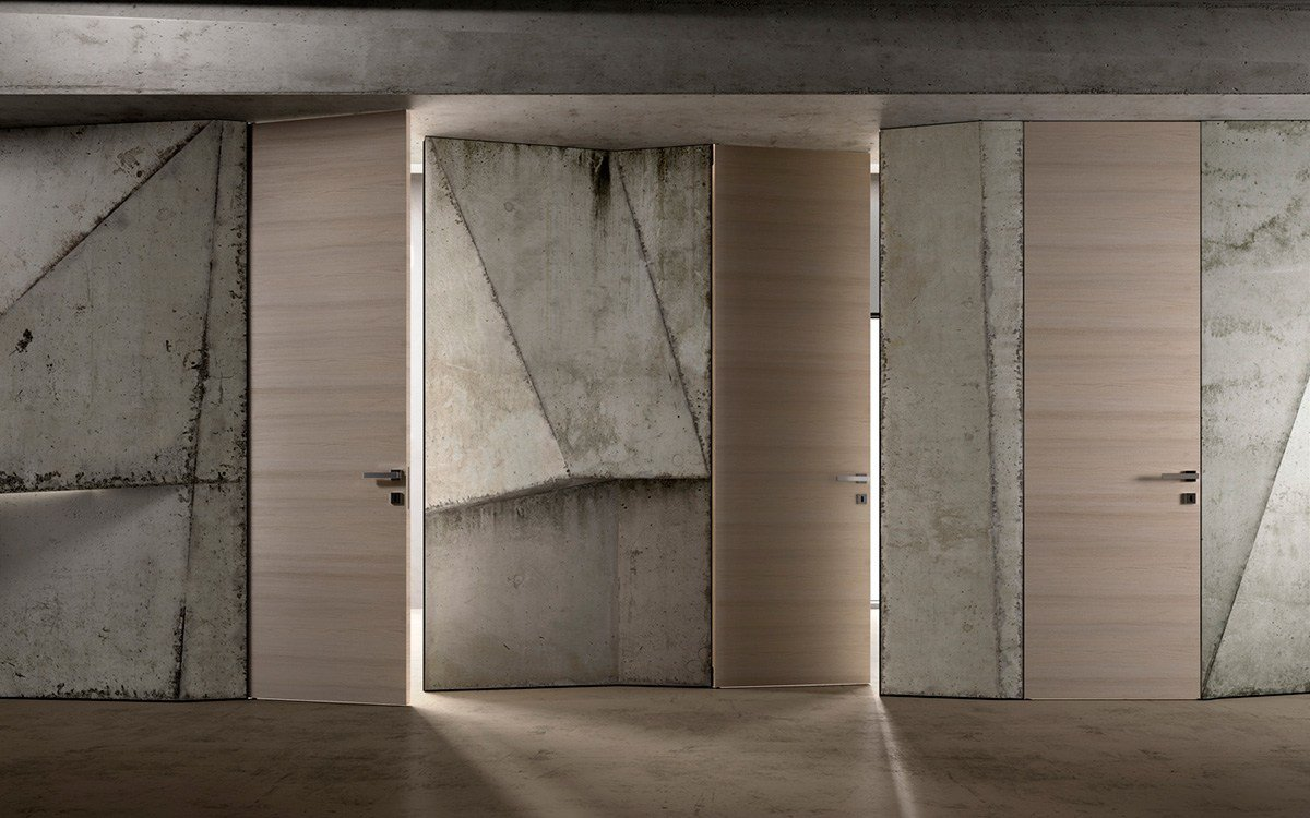 Reversible flush wall door biverso by garofoli for Flush with the wall