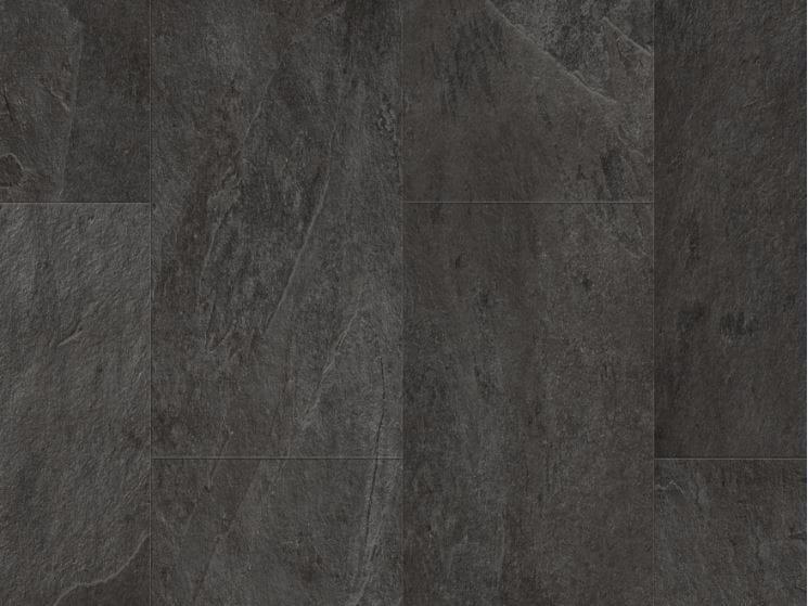 Pavimento de vinilo efecto piedra pizarra negro scivaro - Piso de pizarra ...