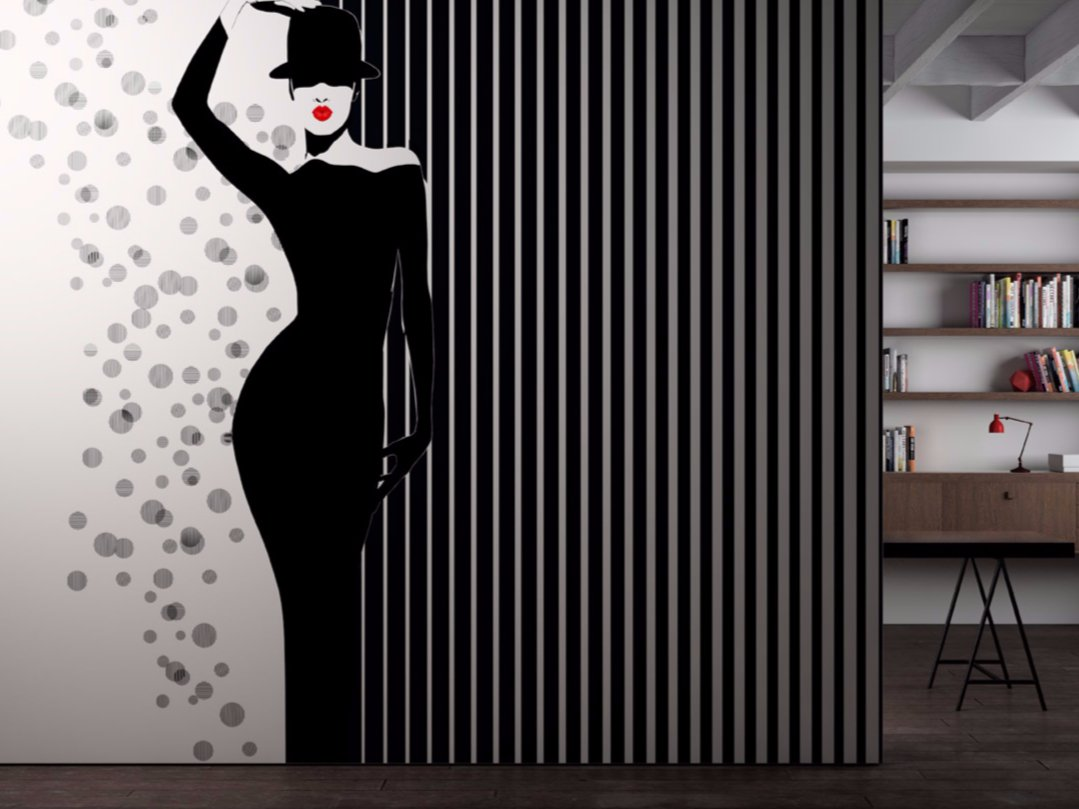 Washable vinyl wallpaper black white vagabond collection for White washable wallpaper