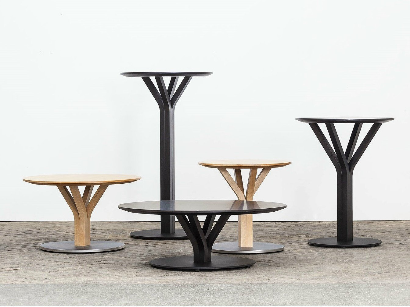 bloom  round coffee table bloom collection by ton -