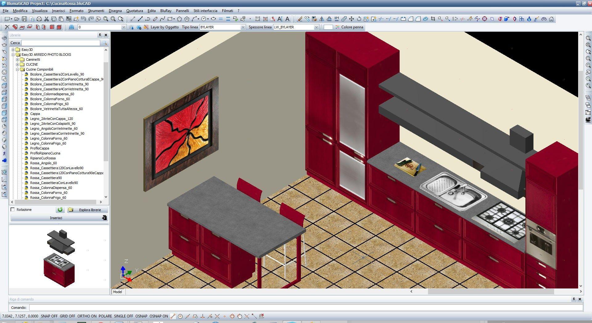 2d & 3d cad technical design blumaticad easy 3d by blumatica - Disegnare Cucina 3d