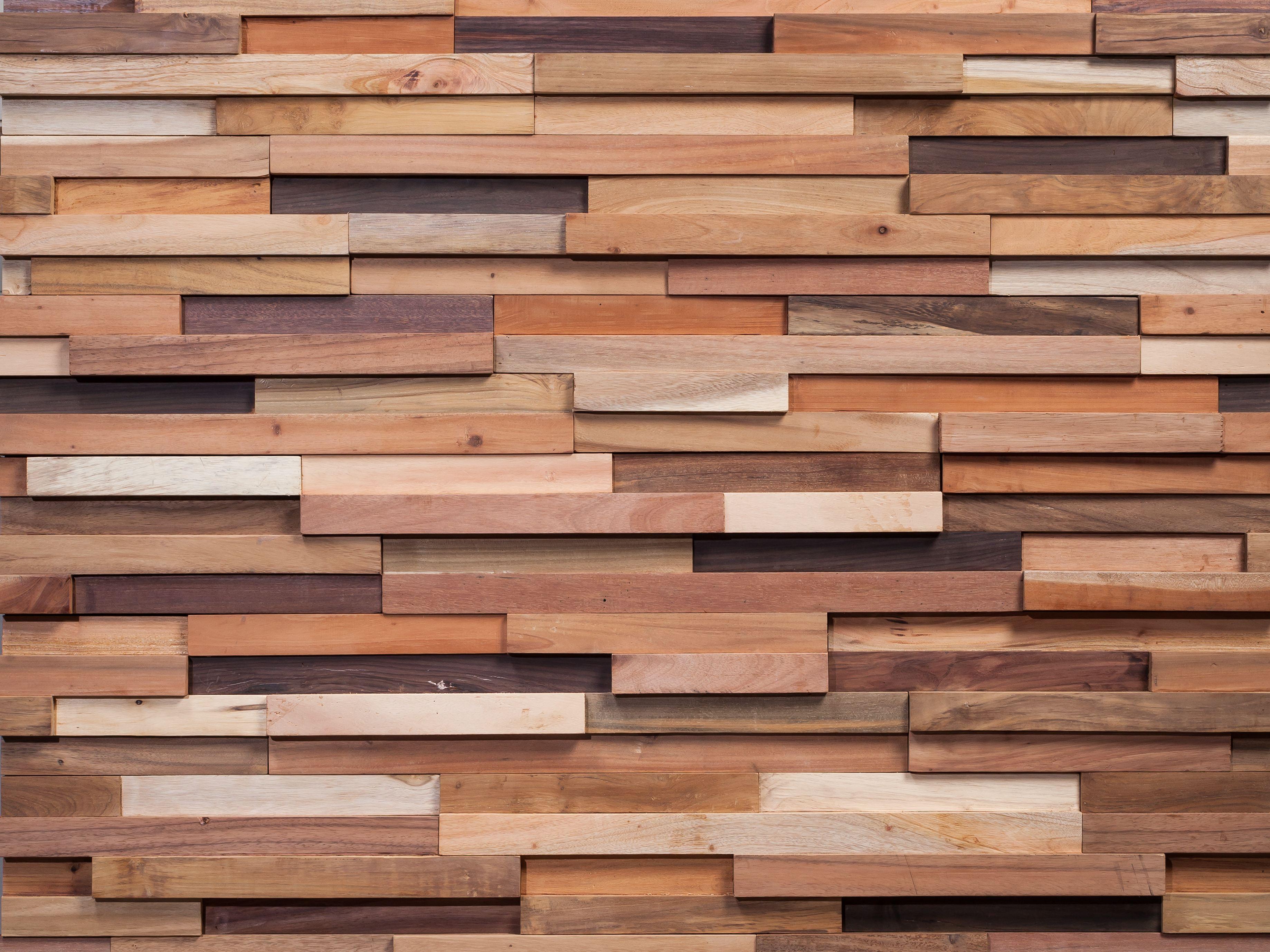 Revestimiento de parede 3d de madeira blunt by wonderwall - Revestimiento de parede ...
