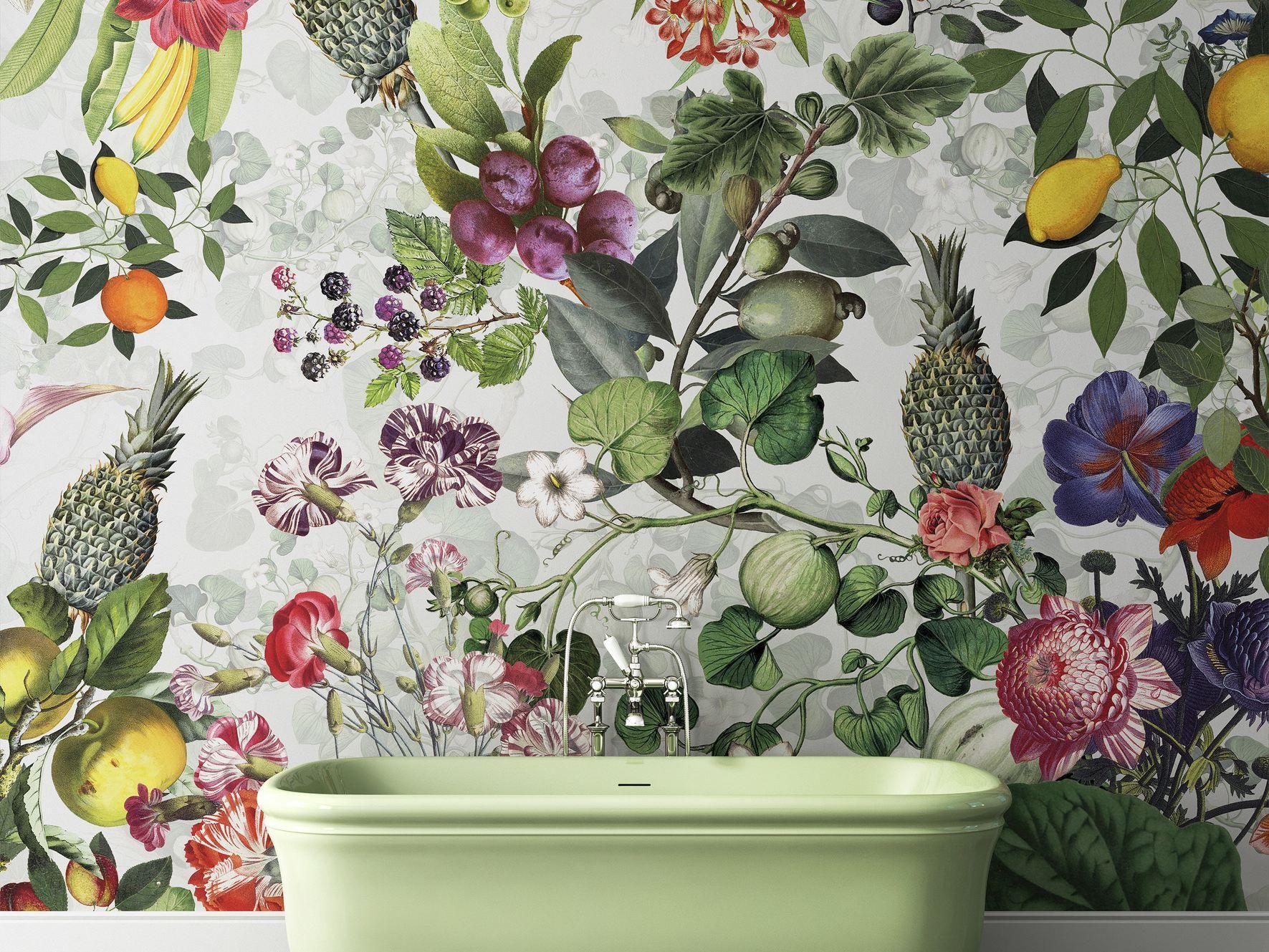Papel pintado lavable de flores botanica colecci n wallpaper by devon devon dise o vito nesta - Papel pintado lavable ...