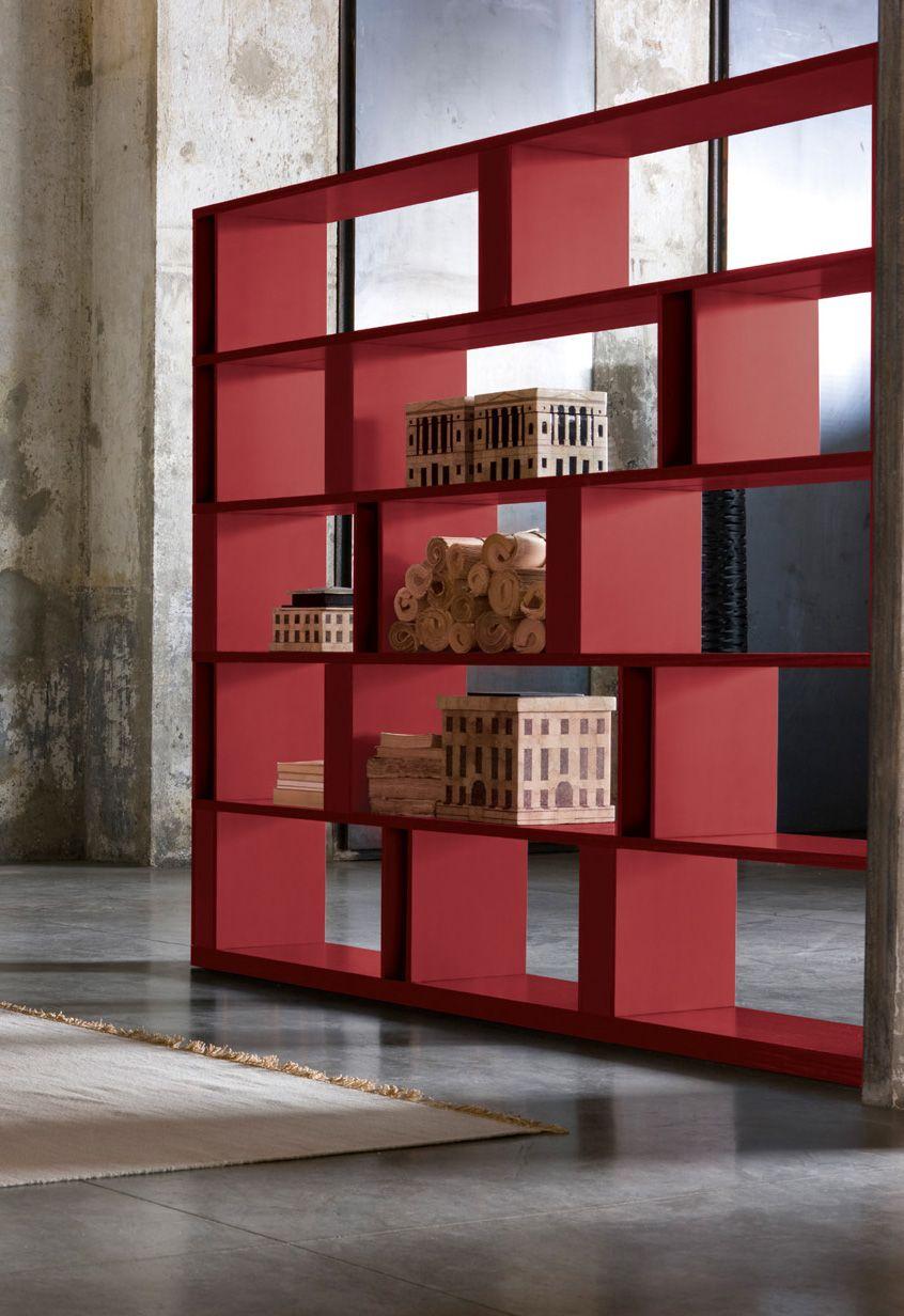 Sectional bookcase brera brera collection by emmebi design for Design brera