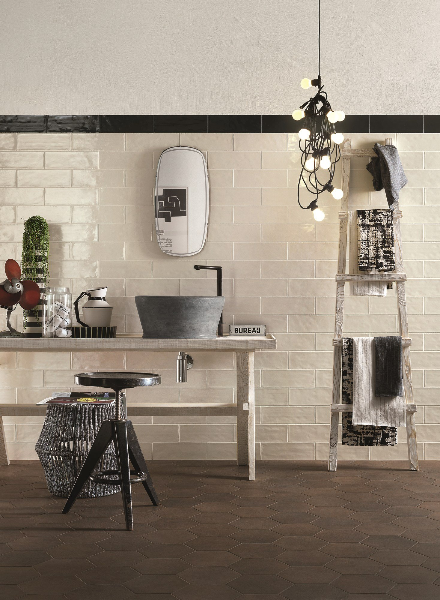 Indoor white paste wall tiles brick glossy by ragno for Carrelage 120x60