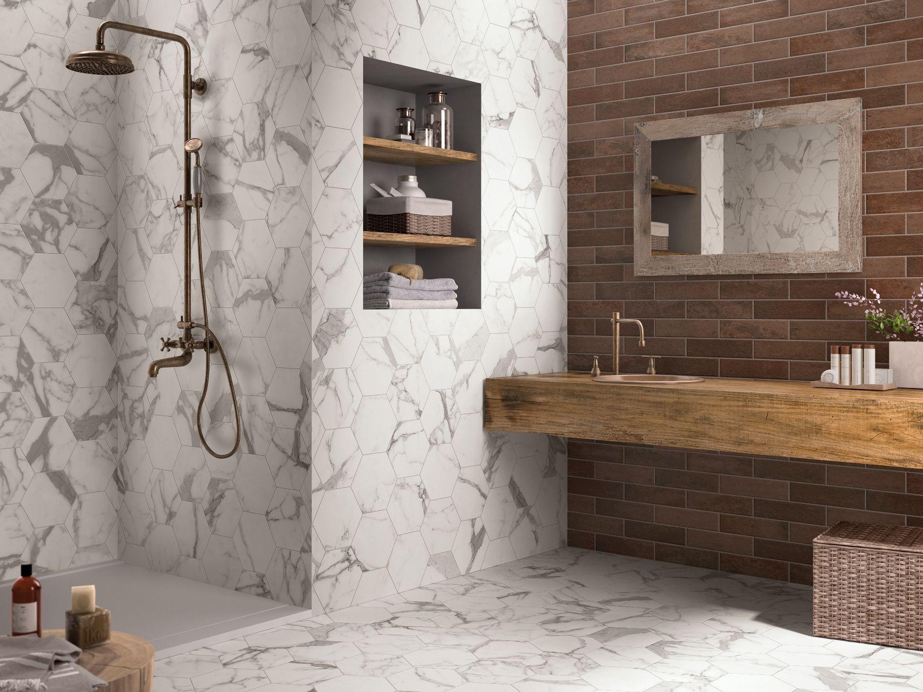 Pavimento rivestimento in gres porcellanato brik cotto - Rivestimento bagno gres porcellanato ...