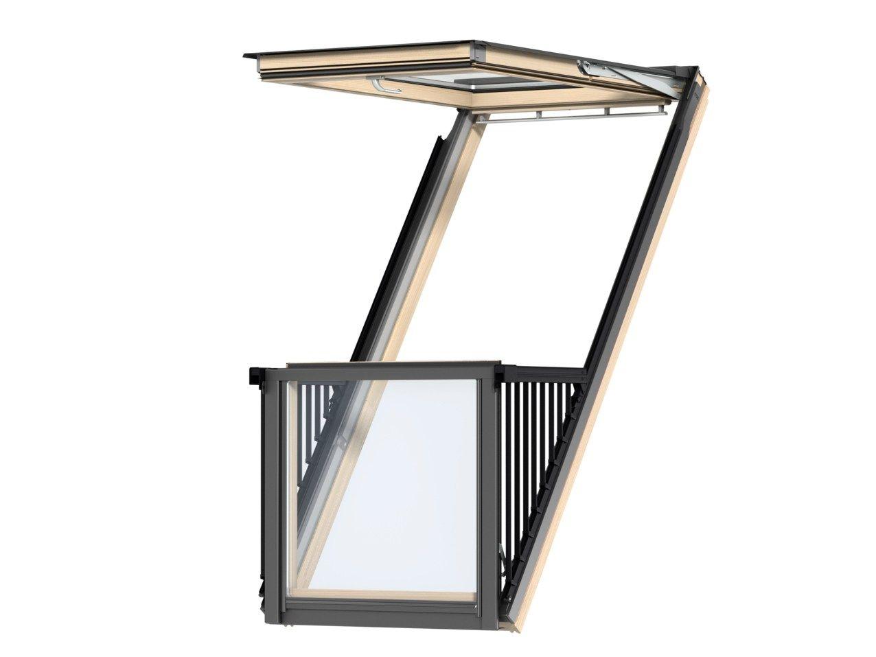 Balcone finestra con apertura a vasistas cabrio by velux for Rivenditori velux roma