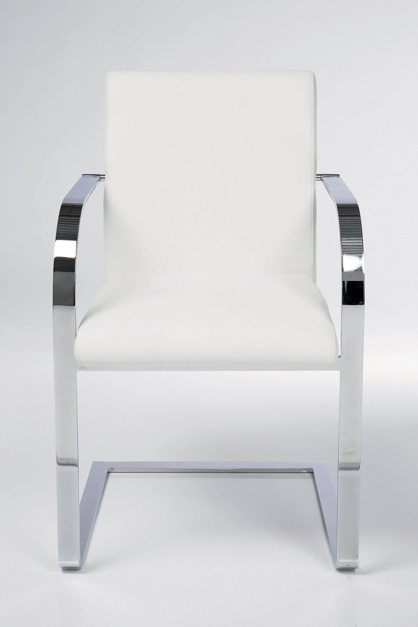 Cantilever Upholstered Fabric Easy Chair With Armrests