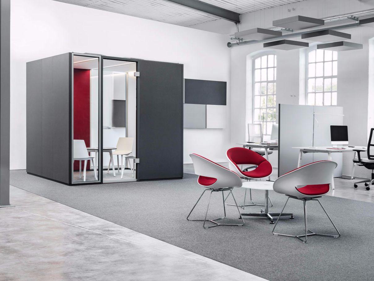 cabine de bureau acoustique cas rooms collection cas by carpet concept. Black Bedroom Furniture Sets. Home Design Ideas