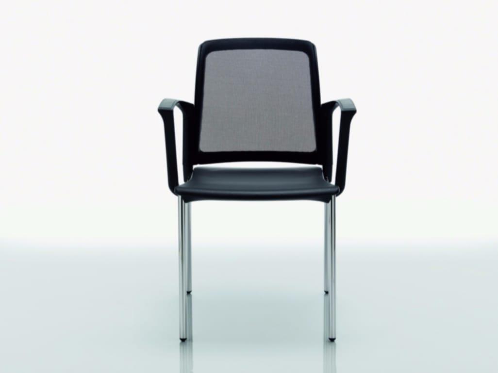 College sedia con braccioli collezione college by for Quadrifoglio arredo ufficio