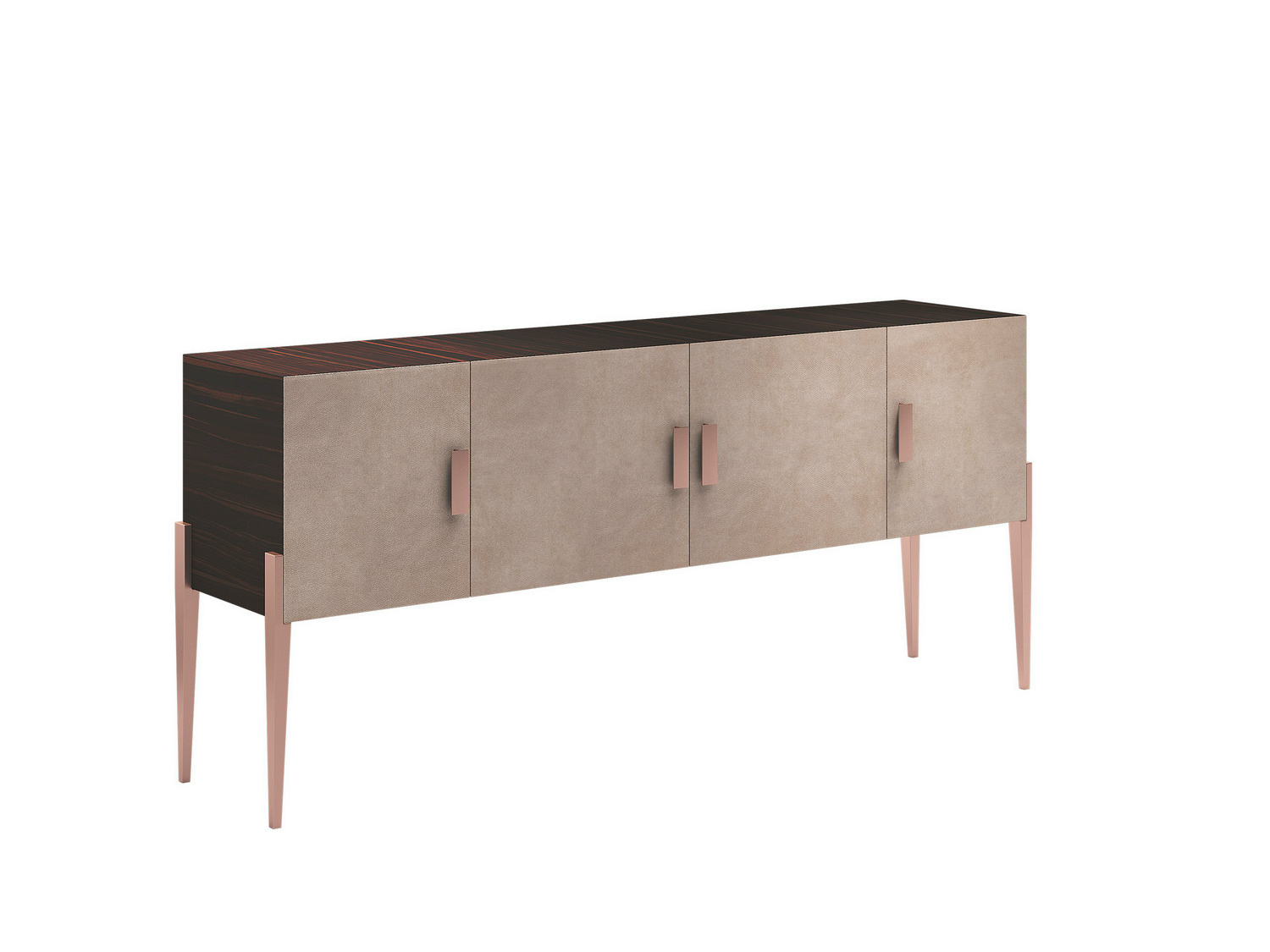 Solid wood sideboard with doors charme xl charme for Sideboard xl