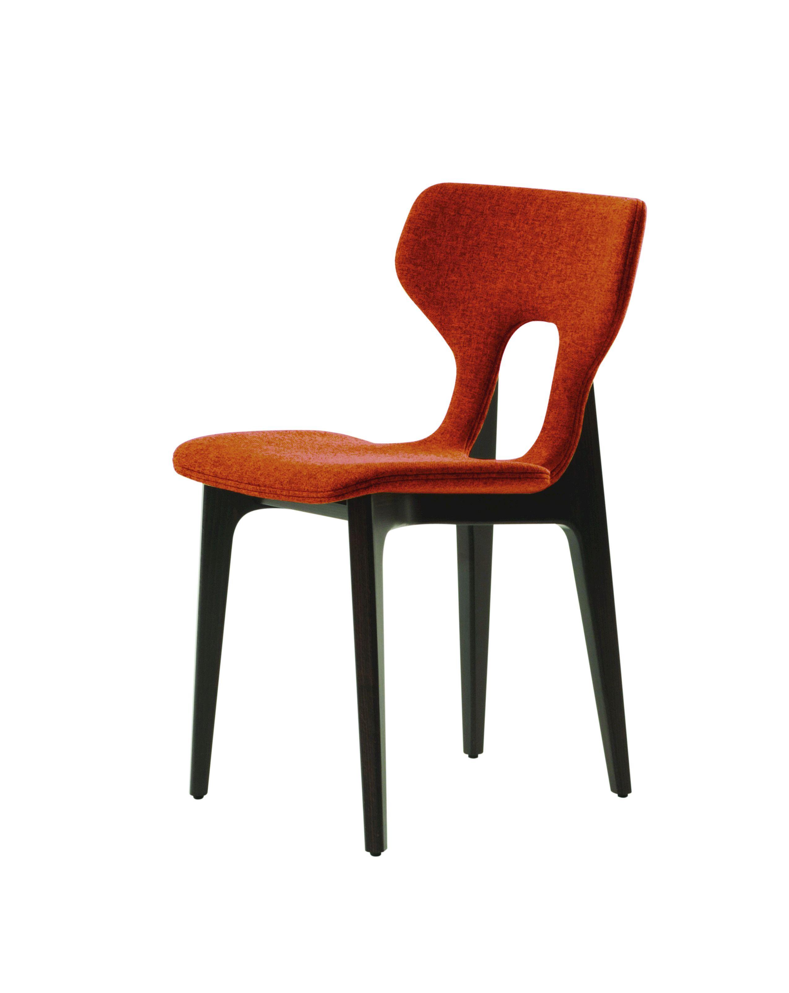 chaise en tissu avec dossier ouvert circa collection les. Black Bedroom Furniture Sets. Home Design Ideas