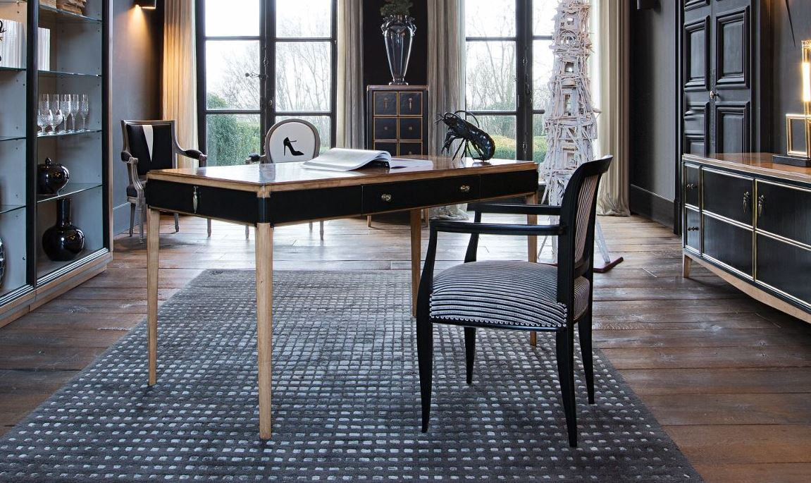 claridge secretary desk nouveaux classiques collection by roche bobois. Black Bedroom Furniture Sets. Home Design Ideas