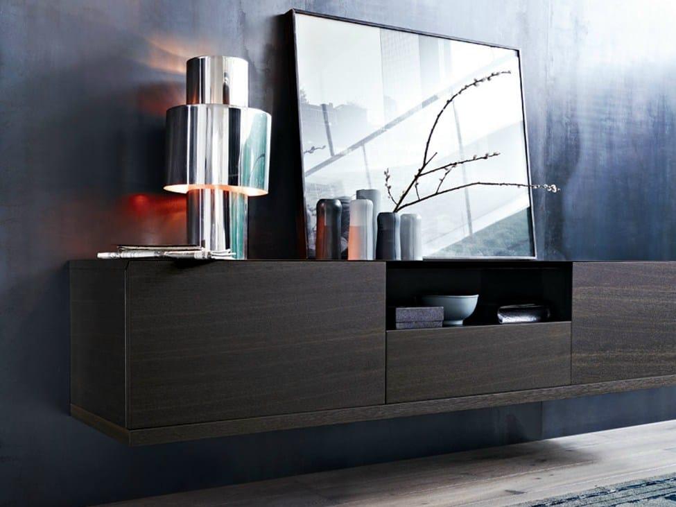 buffet mural en placage de bois collection class by poliform design matteo nunziati. Black Bedroom Furniture Sets. Home Design Ideas