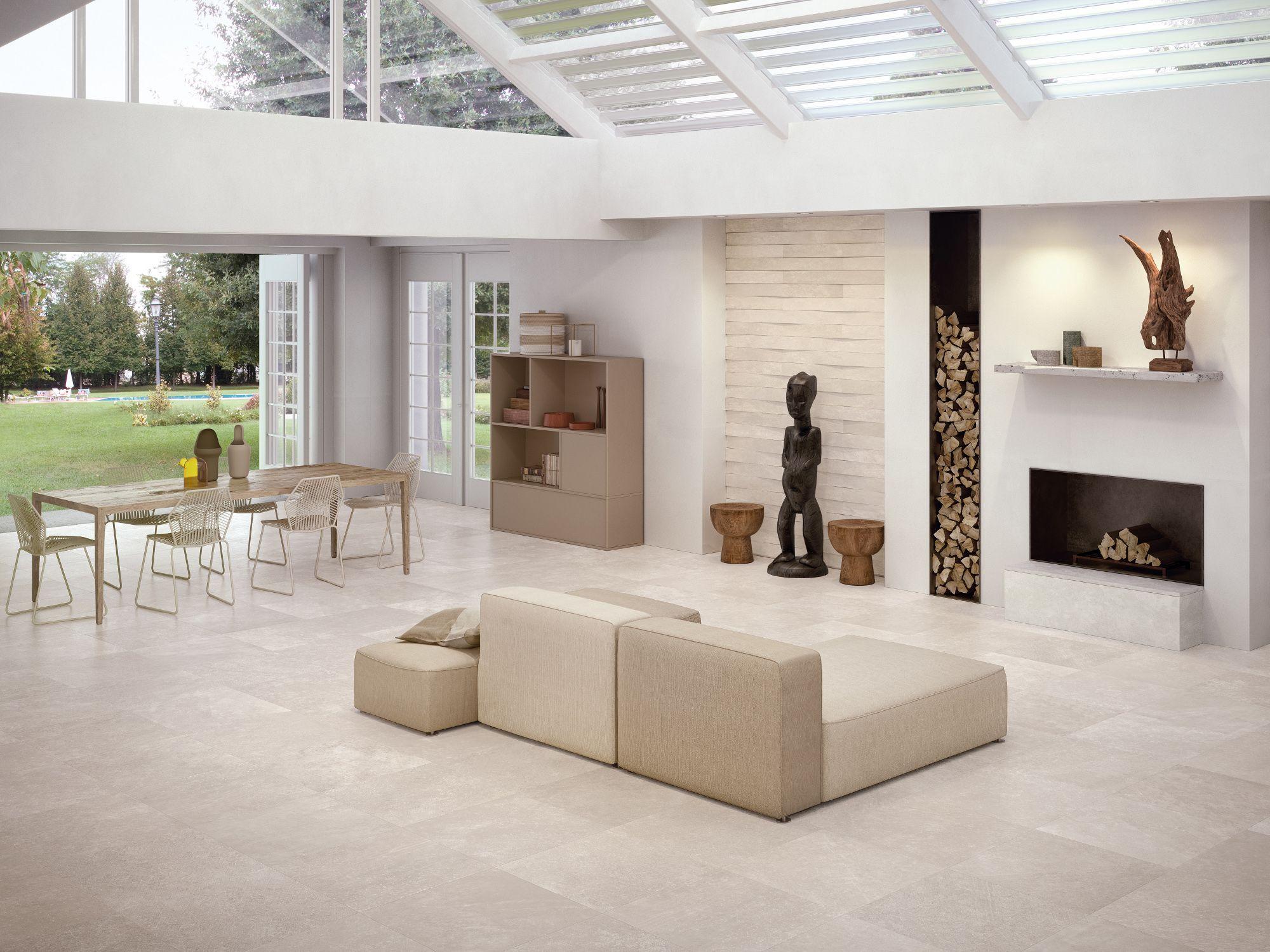 Indoor Porcelain Stoneware Wall Floor Tiles Code Ivory