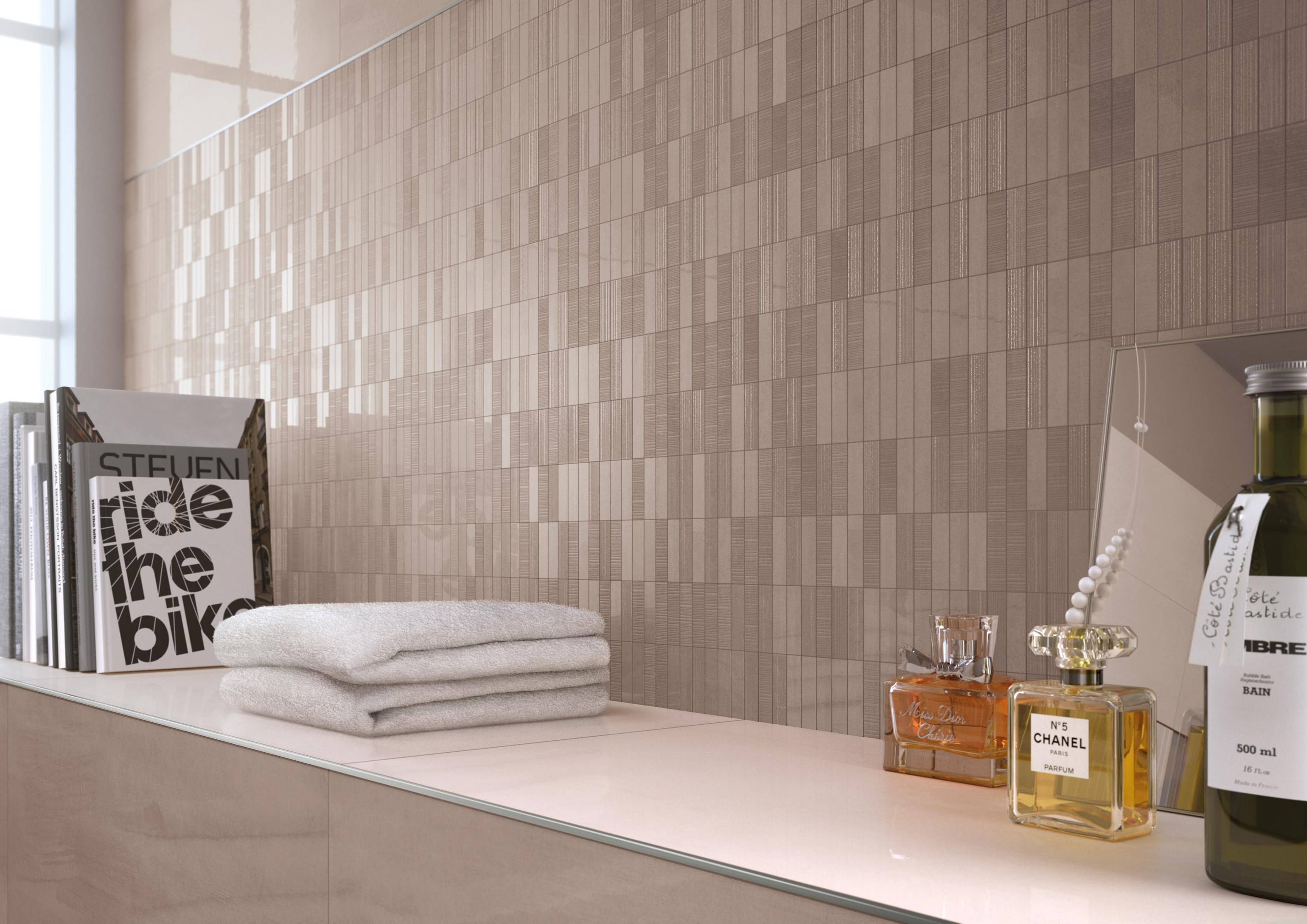 white paste wall tiles color flow by ceramiche supergres. Black Bedroom Furniture Sets. Home Design Ideas