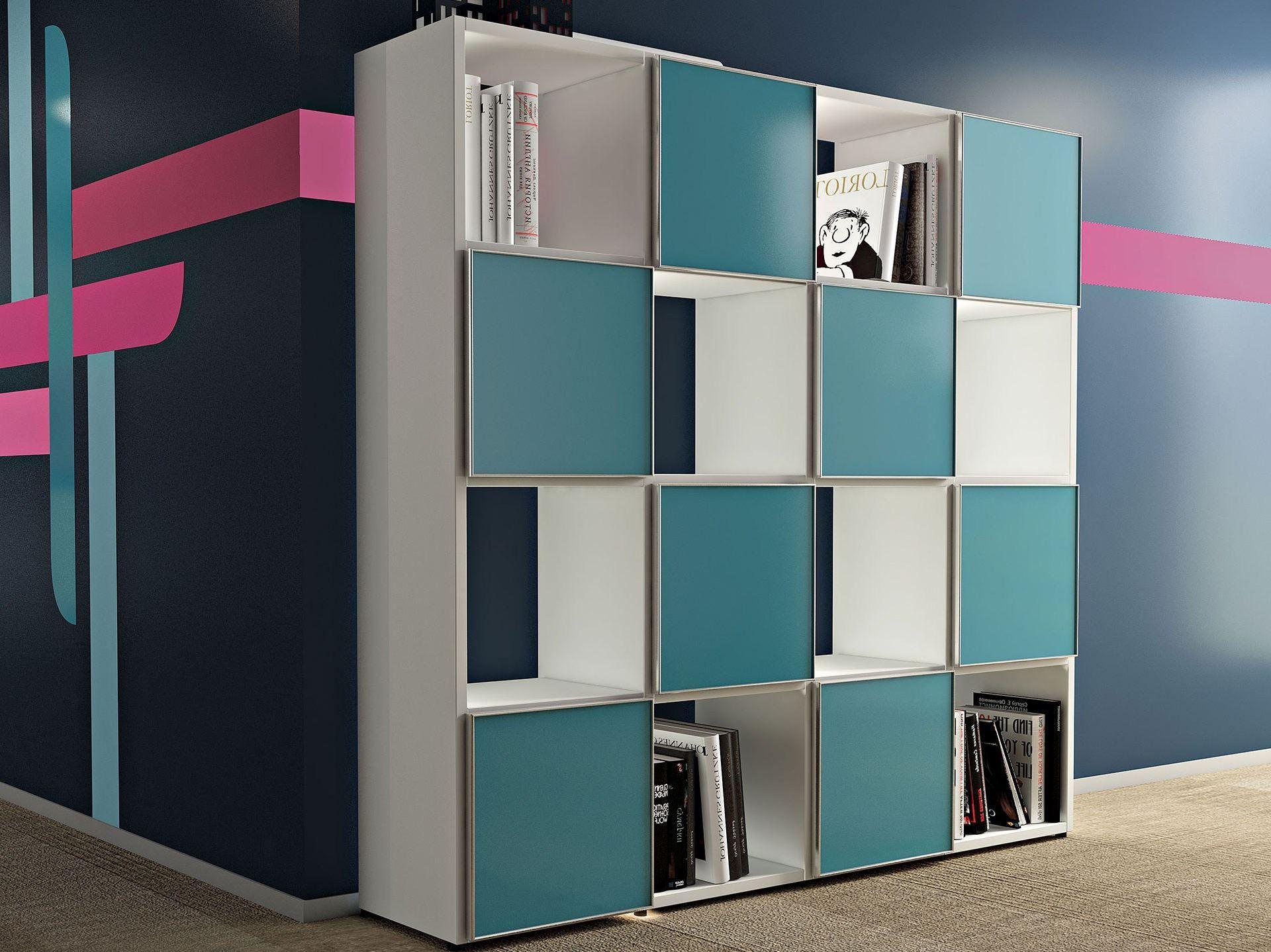 Libreria ufficio a giorno modulare COMPACT CUBO Collezione Compact ...