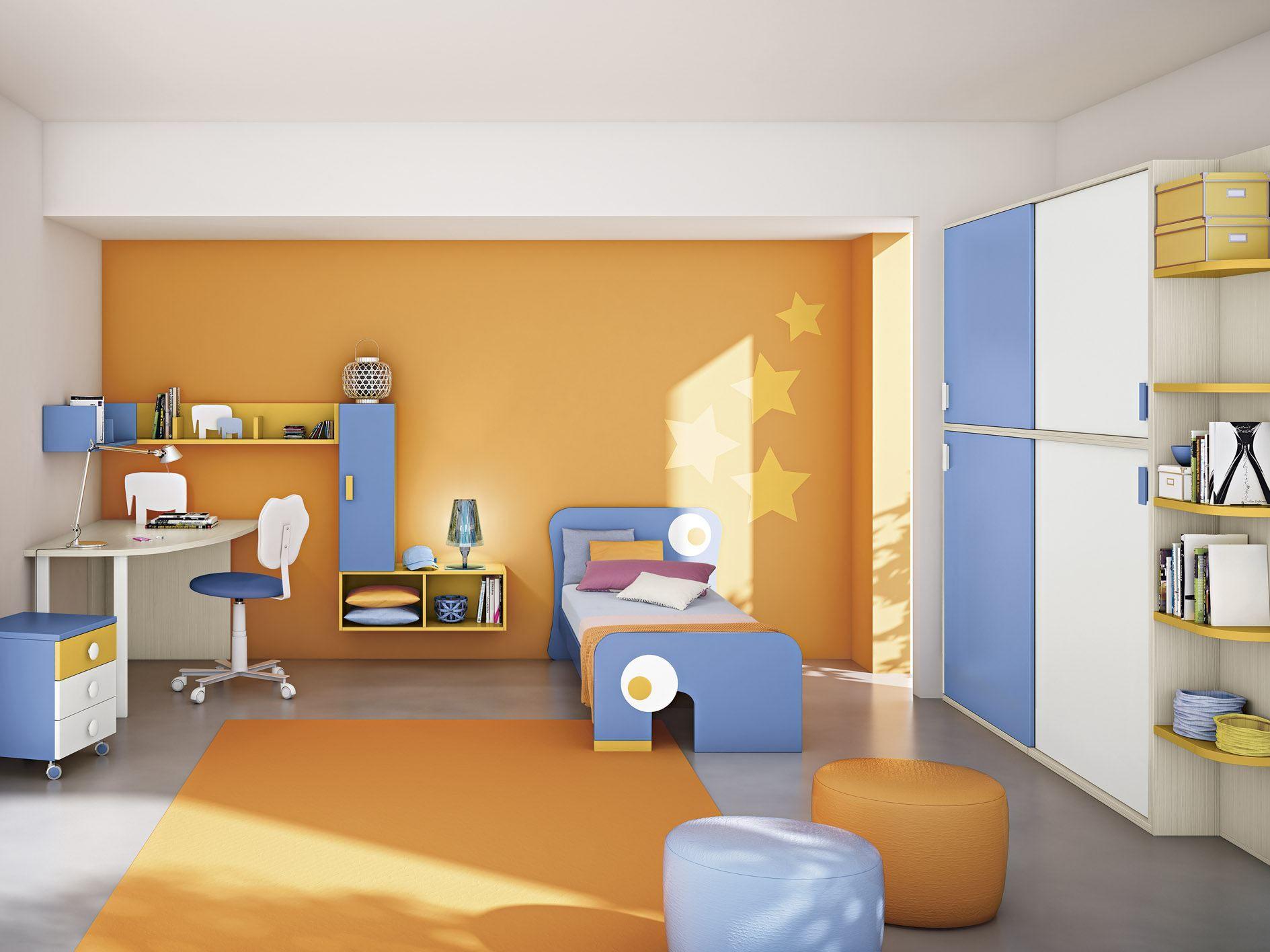 Cameretta per bambini composizione 7 by mottes mobili for Mobili x bambini