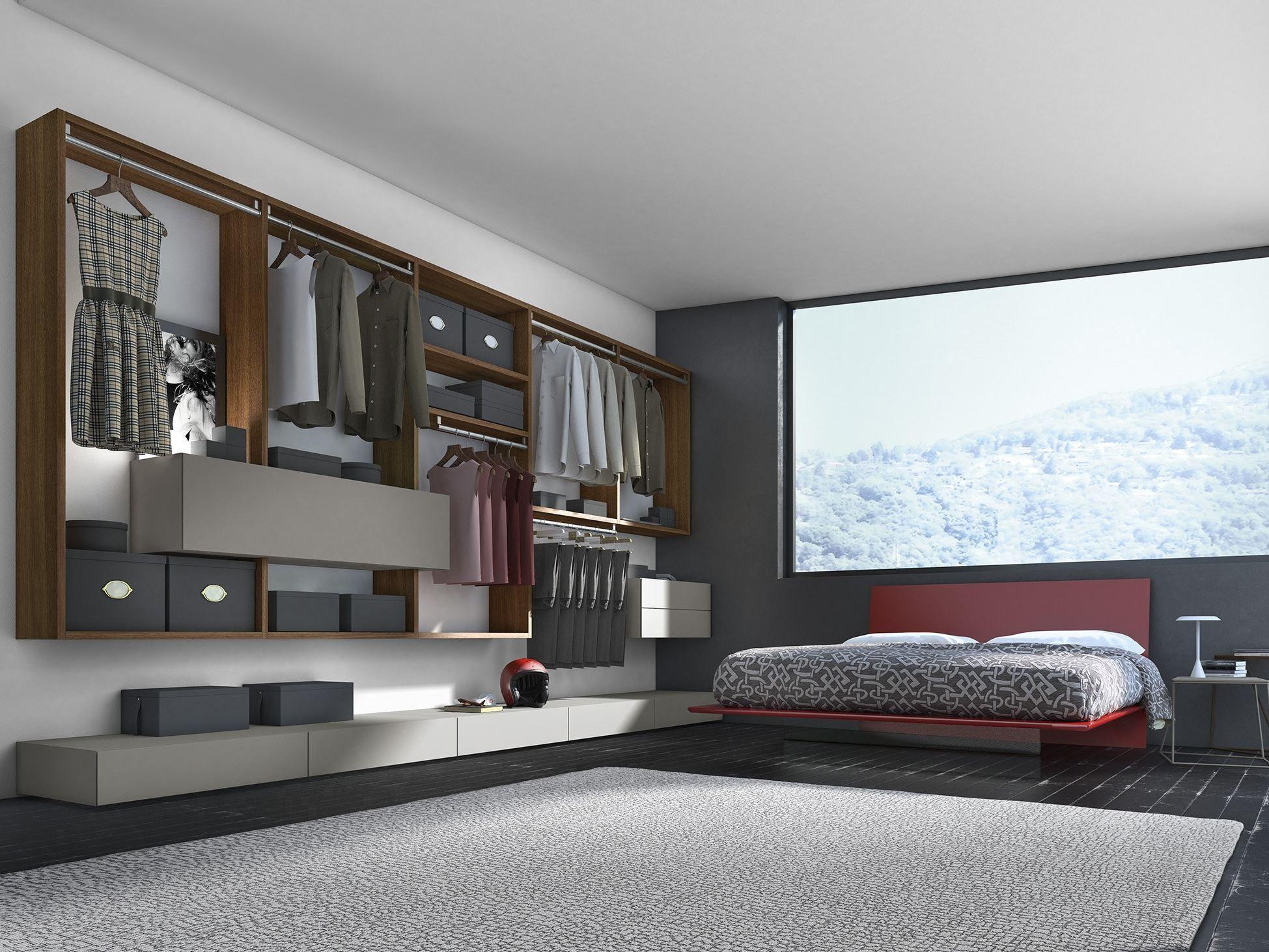 Mobilier de chambre en bois de style contemporain crossart for Mobilier chambre design