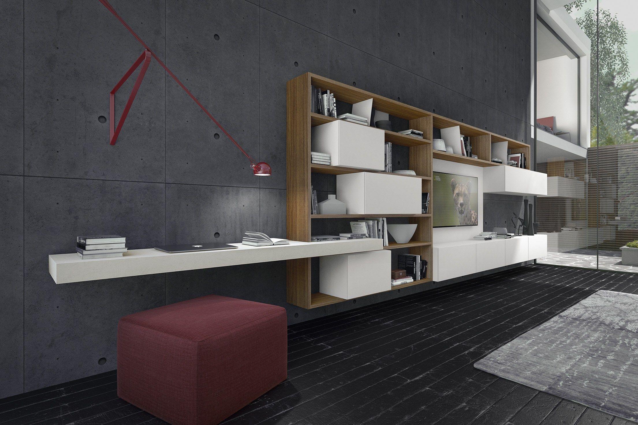 Anbau  wohnwand aus holz crossart   529 by presotto industrie ...