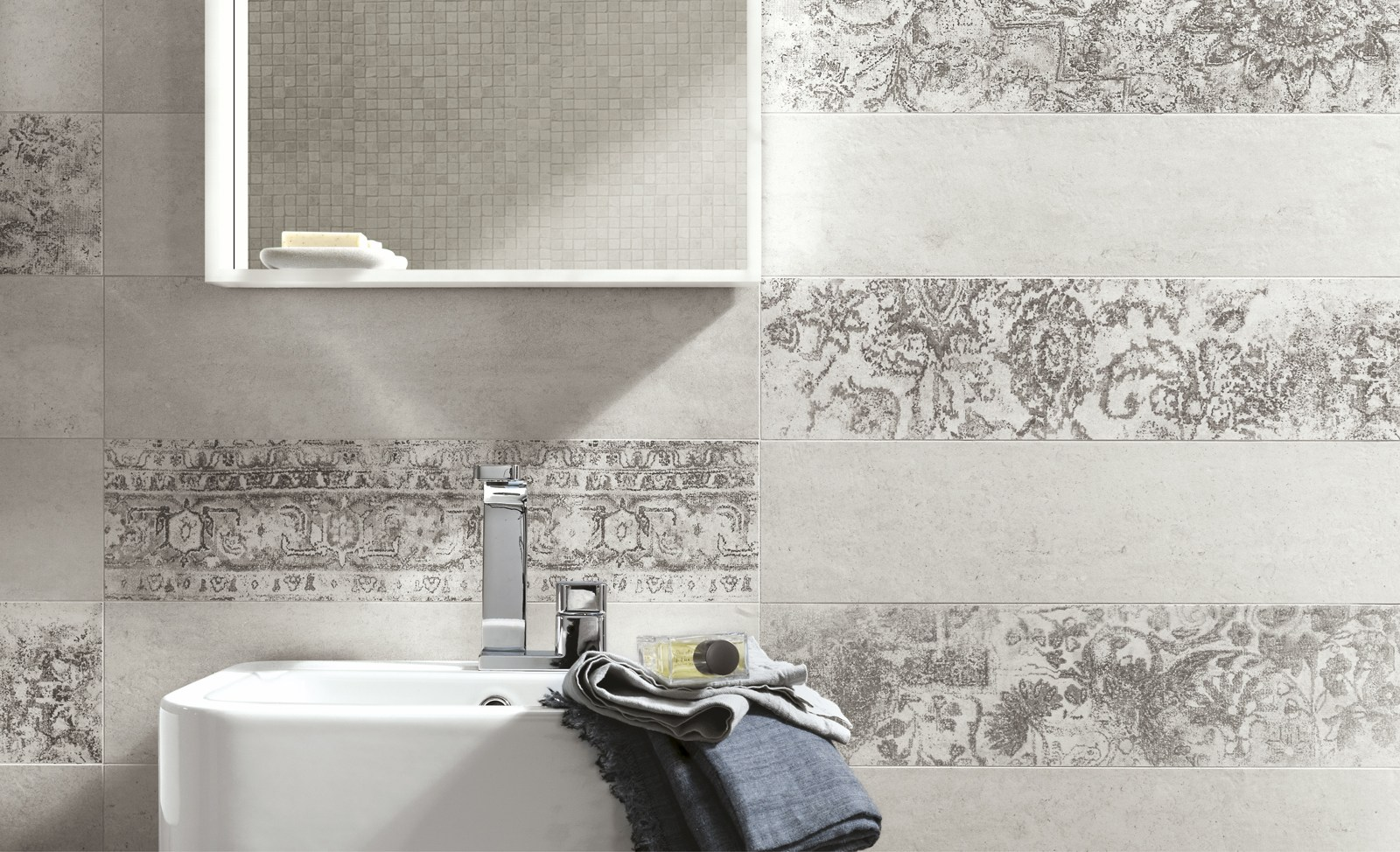 Porcelain stoneware wall tiles with concrete effect - Ceramiche decorative ...