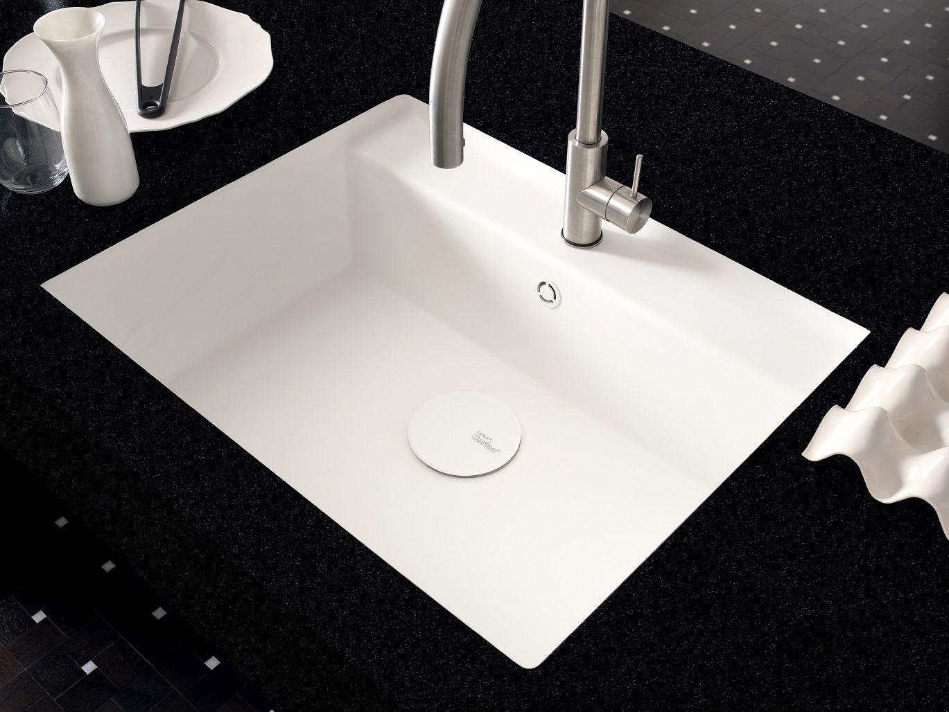 Single flush mounted corian sink corian tasty by dupont - Corian de dupont ...