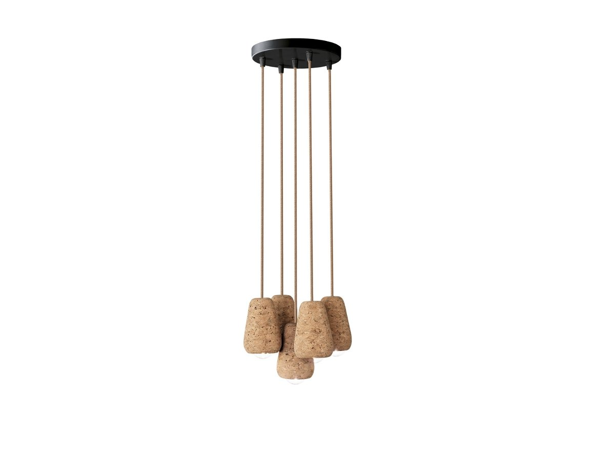 Cork Pendant Lamp CORKY 5 Meggart Collection By ENVY