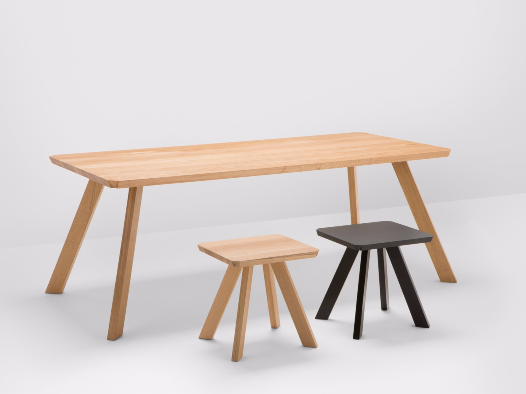 corner oak table corner collection by h furniture design