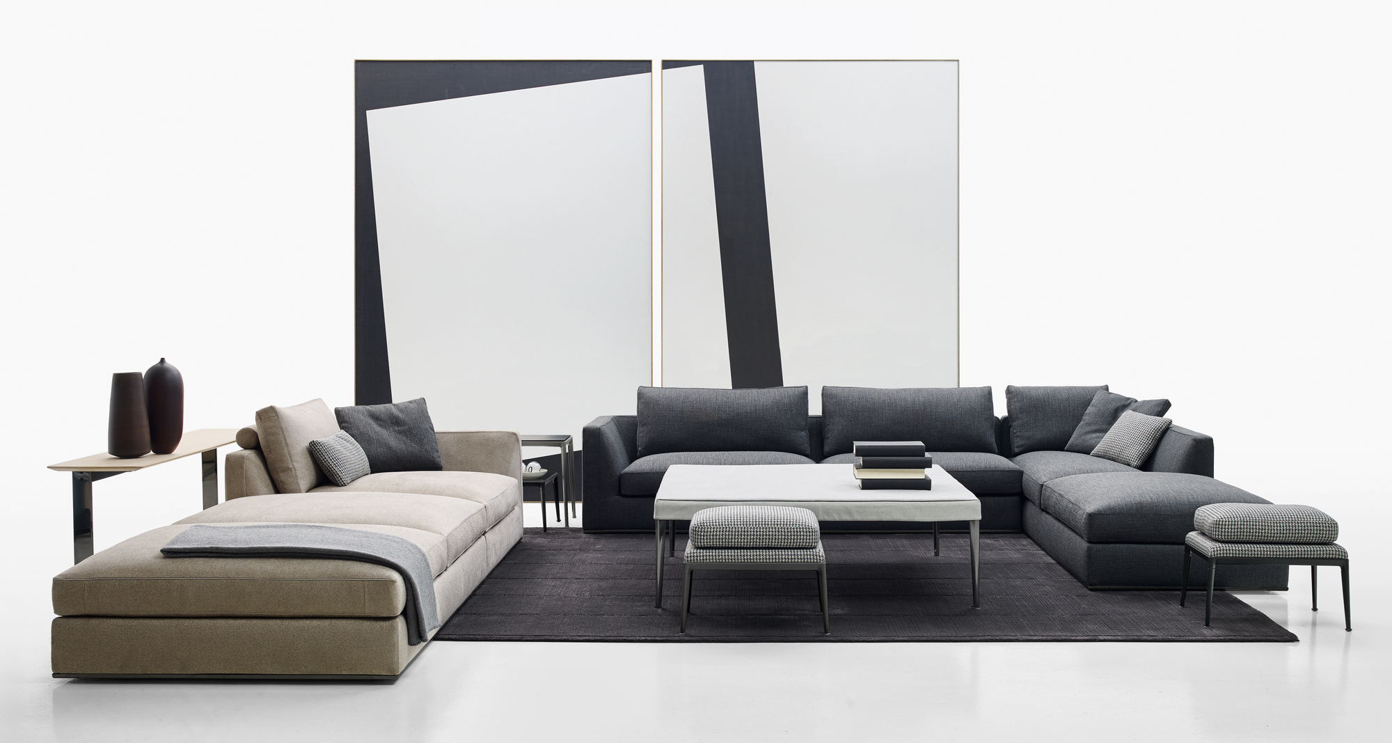 Richard corner sofa richard collection by b b italia for B en b italia
