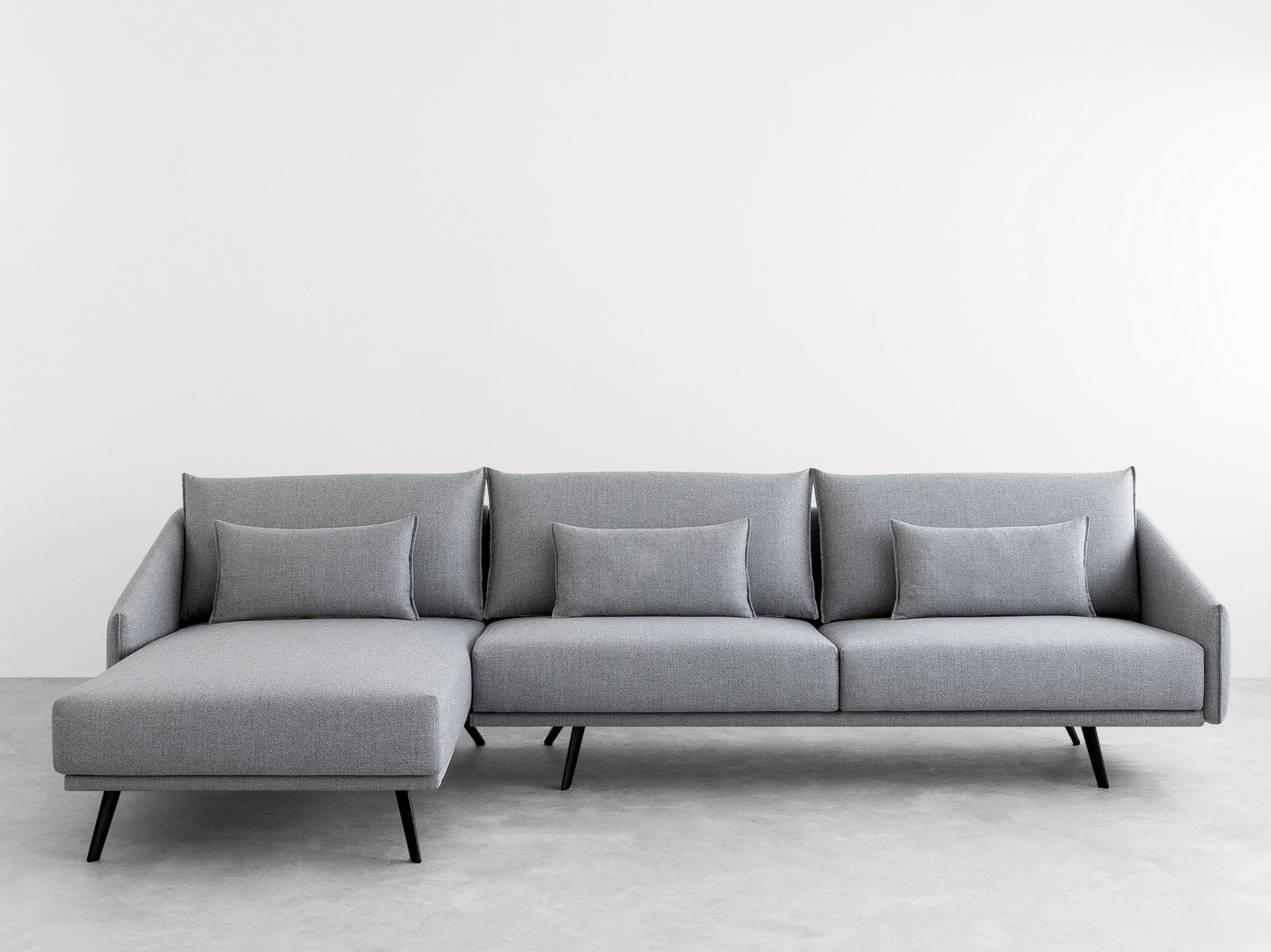 costura sofa with chaise longue costura collection by stua
