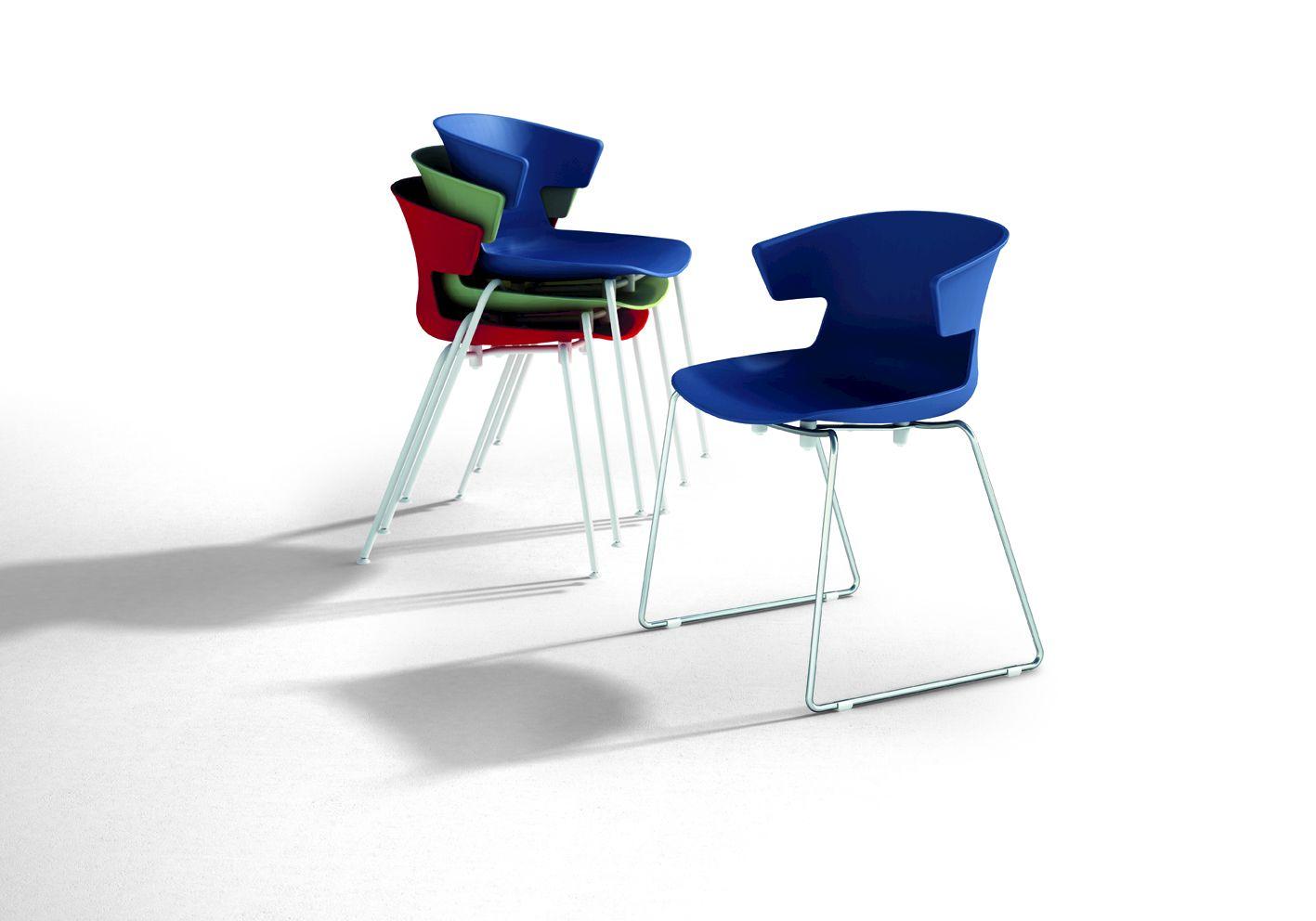 Cove sled base chair cove collection by quadrifoglio for Quadrifoglio arredo ufficio