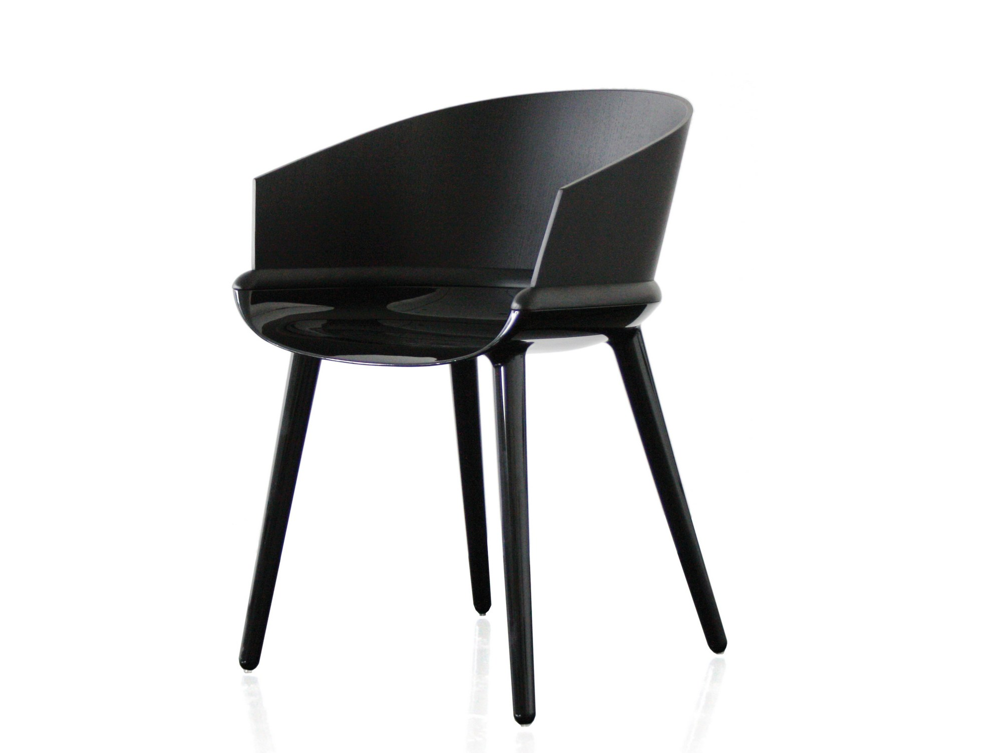 Multi layer wood chair with armrests cyborg ply cyborg for Magis cyborg