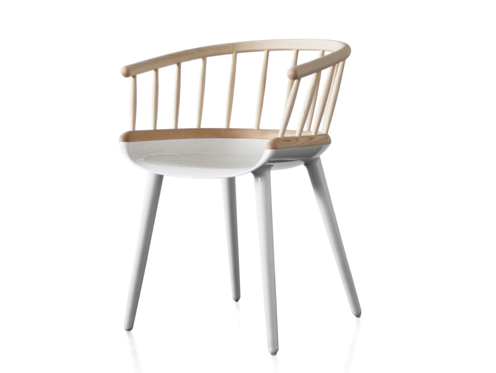 Multi layer wood chair with armrests cyborg stick cyborg for Magis chair