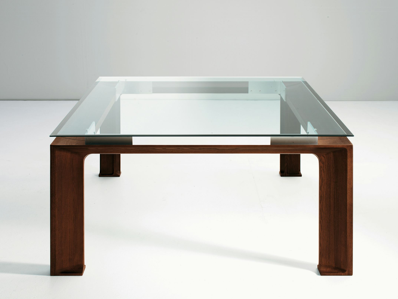 Mesa de comedor en madera y vidrio dela by eco co dise o for Mesa vidrio