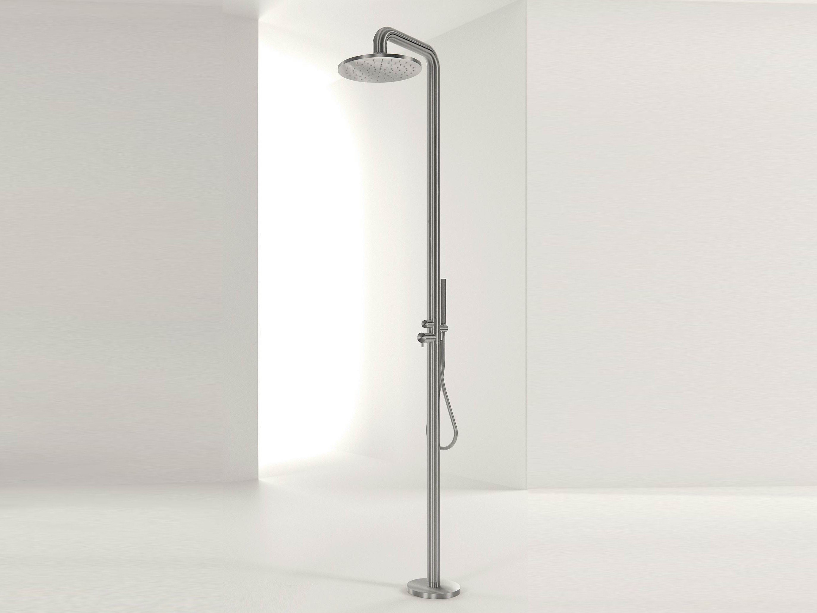 Diametro35 Inox Colonne De Douche Fixation Au Sol By Rubinetterie Ritmonio Design Davide Vercelli